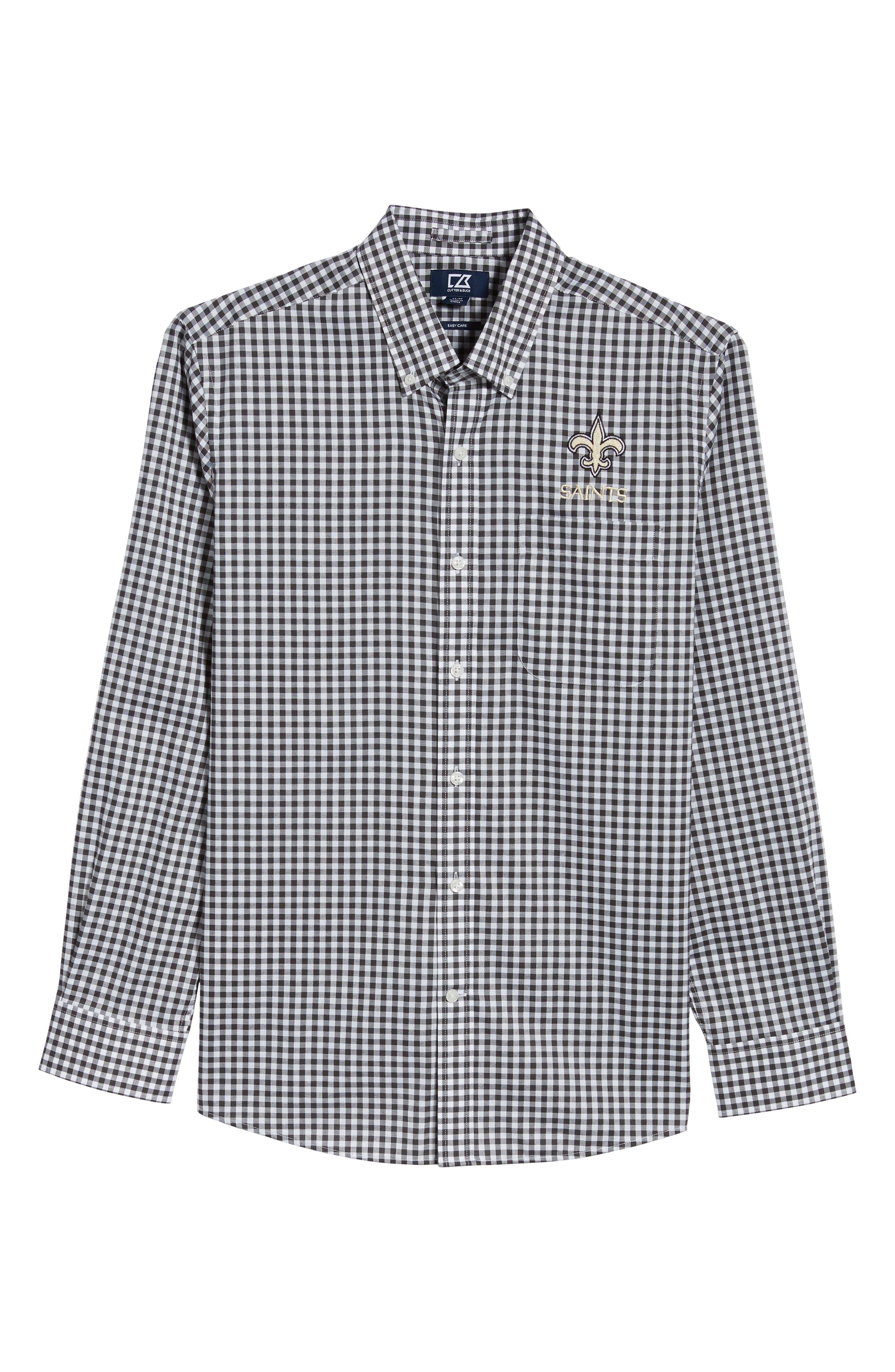 League New Orleans Saints Regular Fit Shirt,                             Alternate thumbnail 6, color,                             CHARCOAL