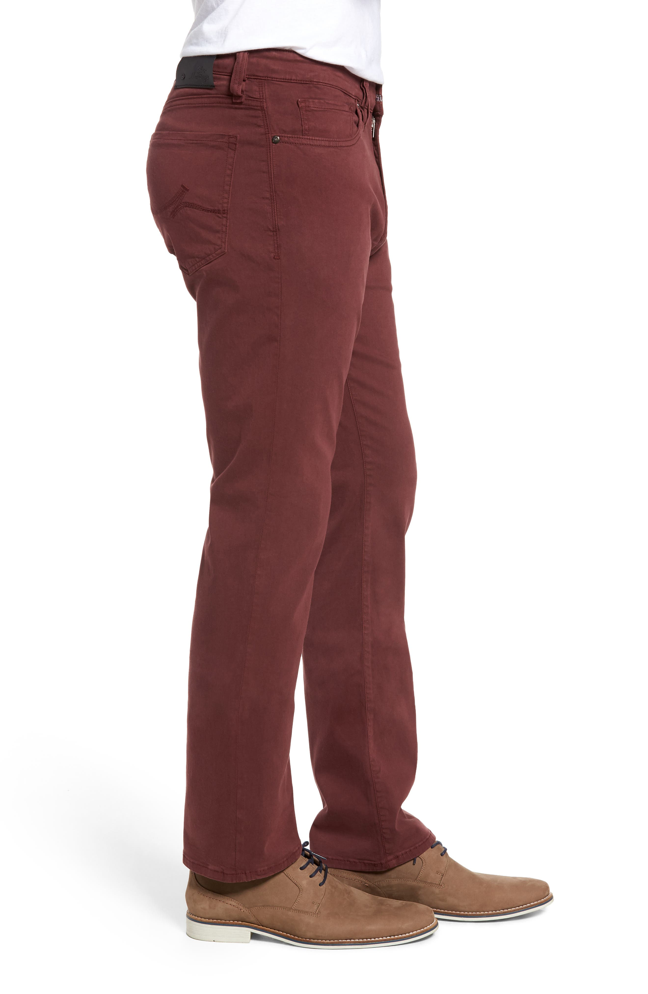Charisma Relaxed Fit Pants,                             Alternate thumbnail 3, color,                             BORDEAUX TWILL