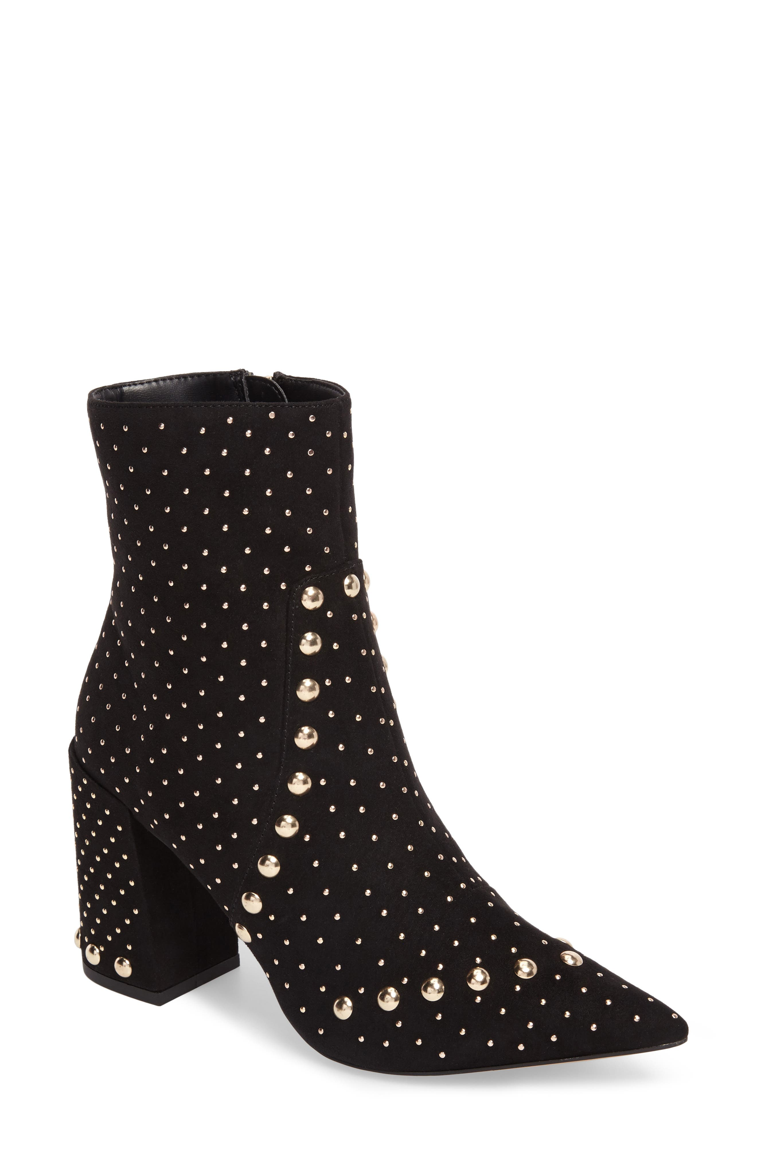 Studded Bootie,                             Main thumbnail 1, color,                             001