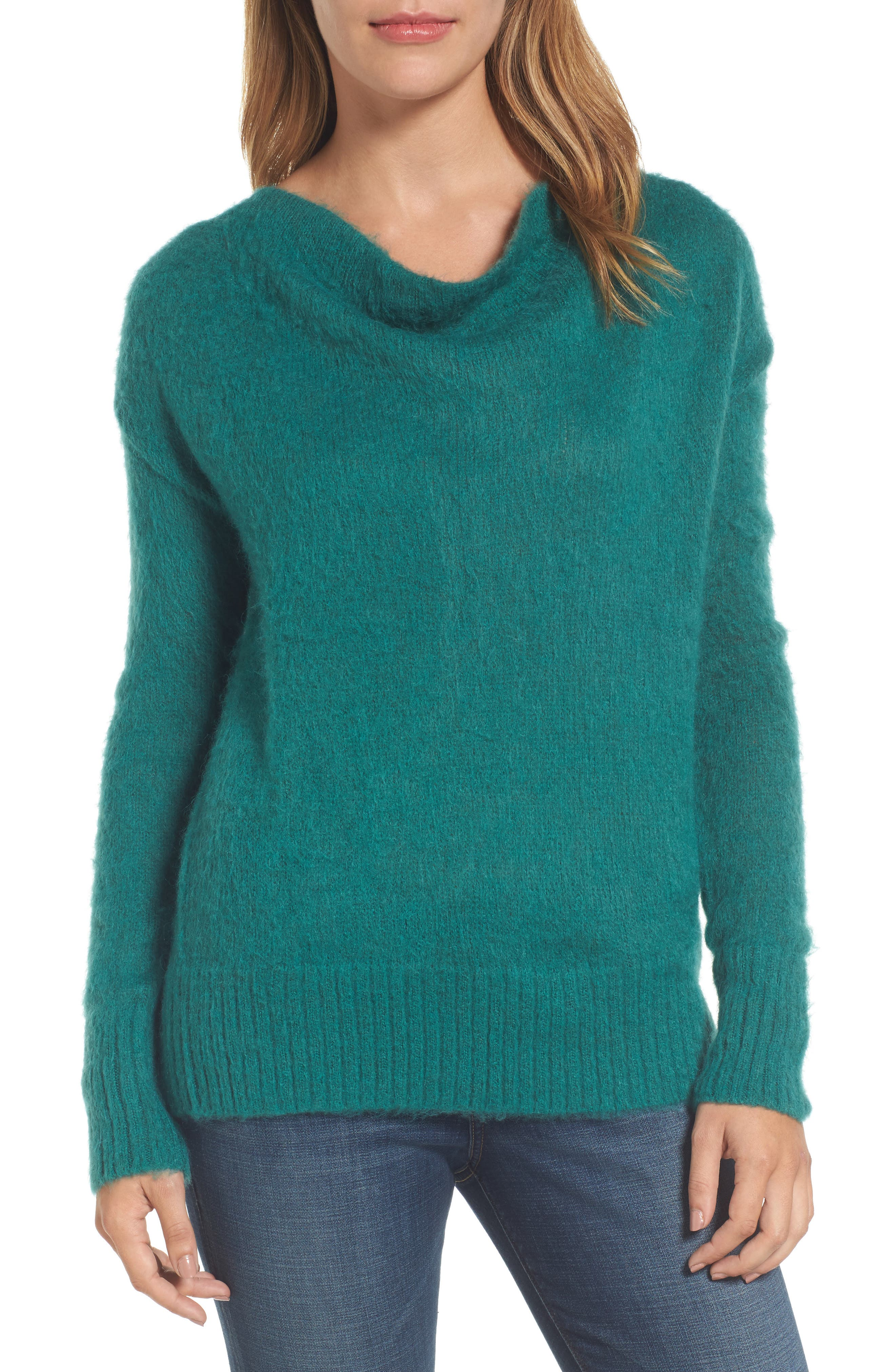 Long Sleeve Brushed Sweater,                             Main thumbnail 3, color,