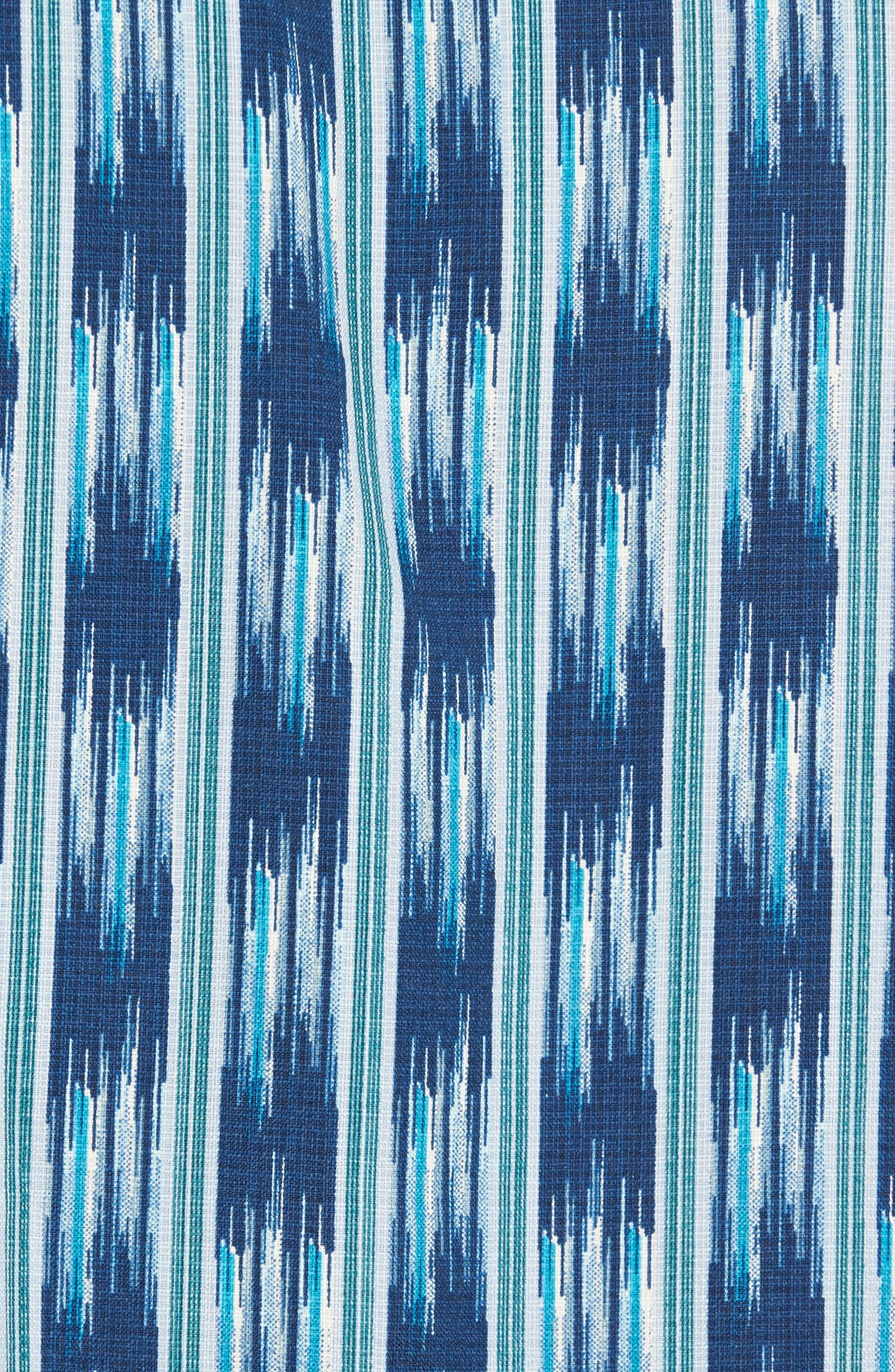 Ikat on a Hot Tin Roof Silk Blend Camp Shirt,                             Alternate thumbnail 5, color,                             400
