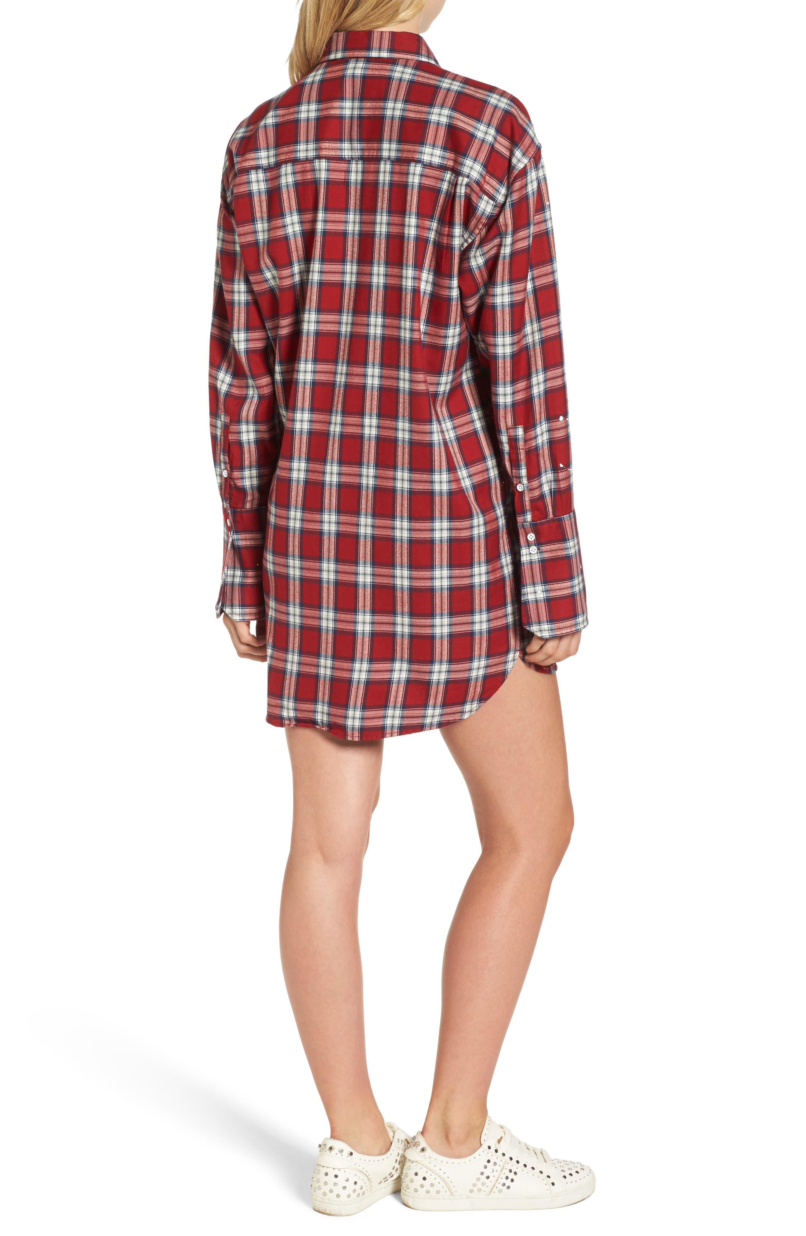 Rivington & Essex Plaid Shirtdress,                             Alternate thumbnail 2, color,                             609