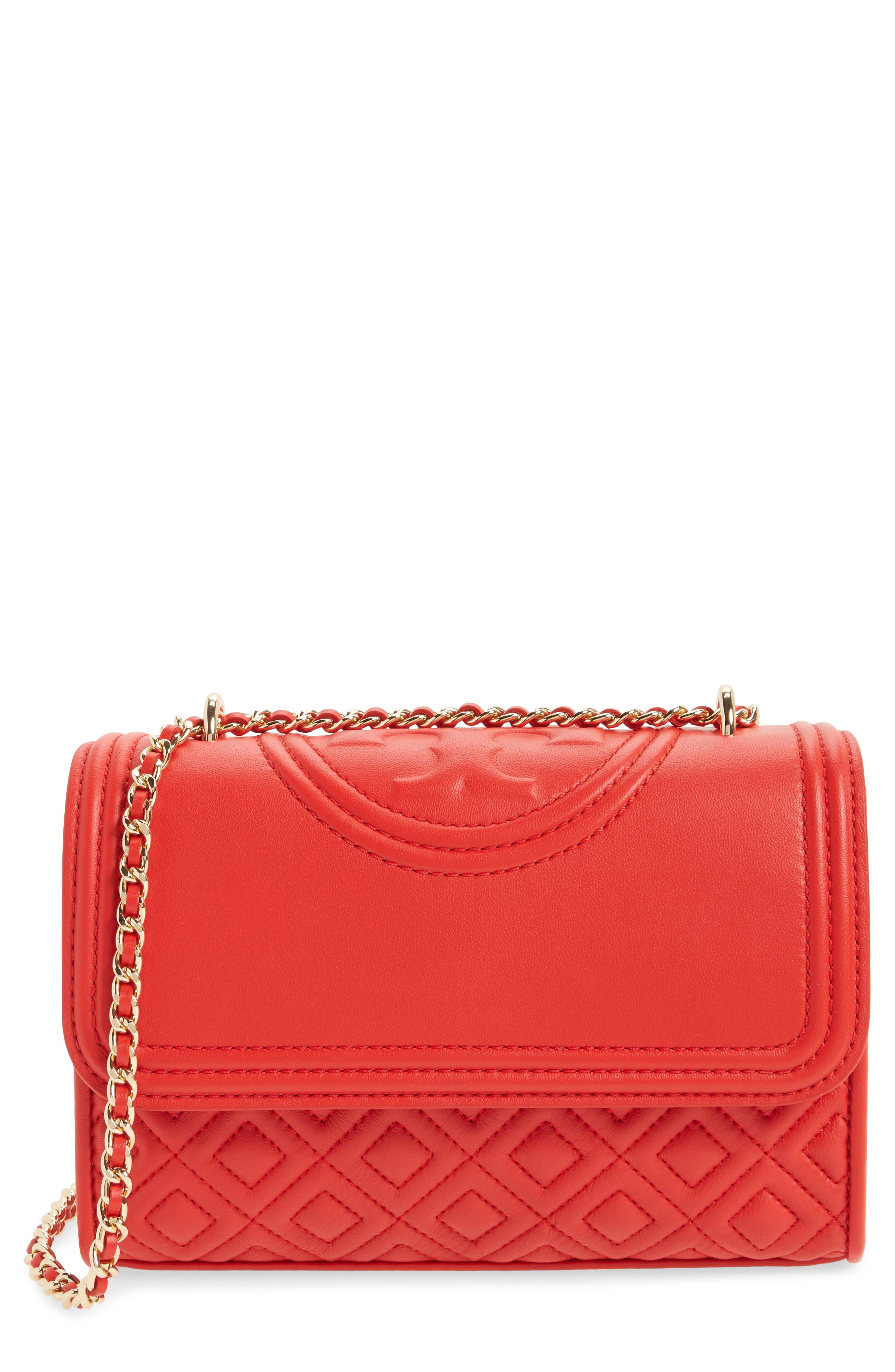 'Small Fleming' Quilted Leather Shoulder Bag,                             Main thumbnail 4, color,