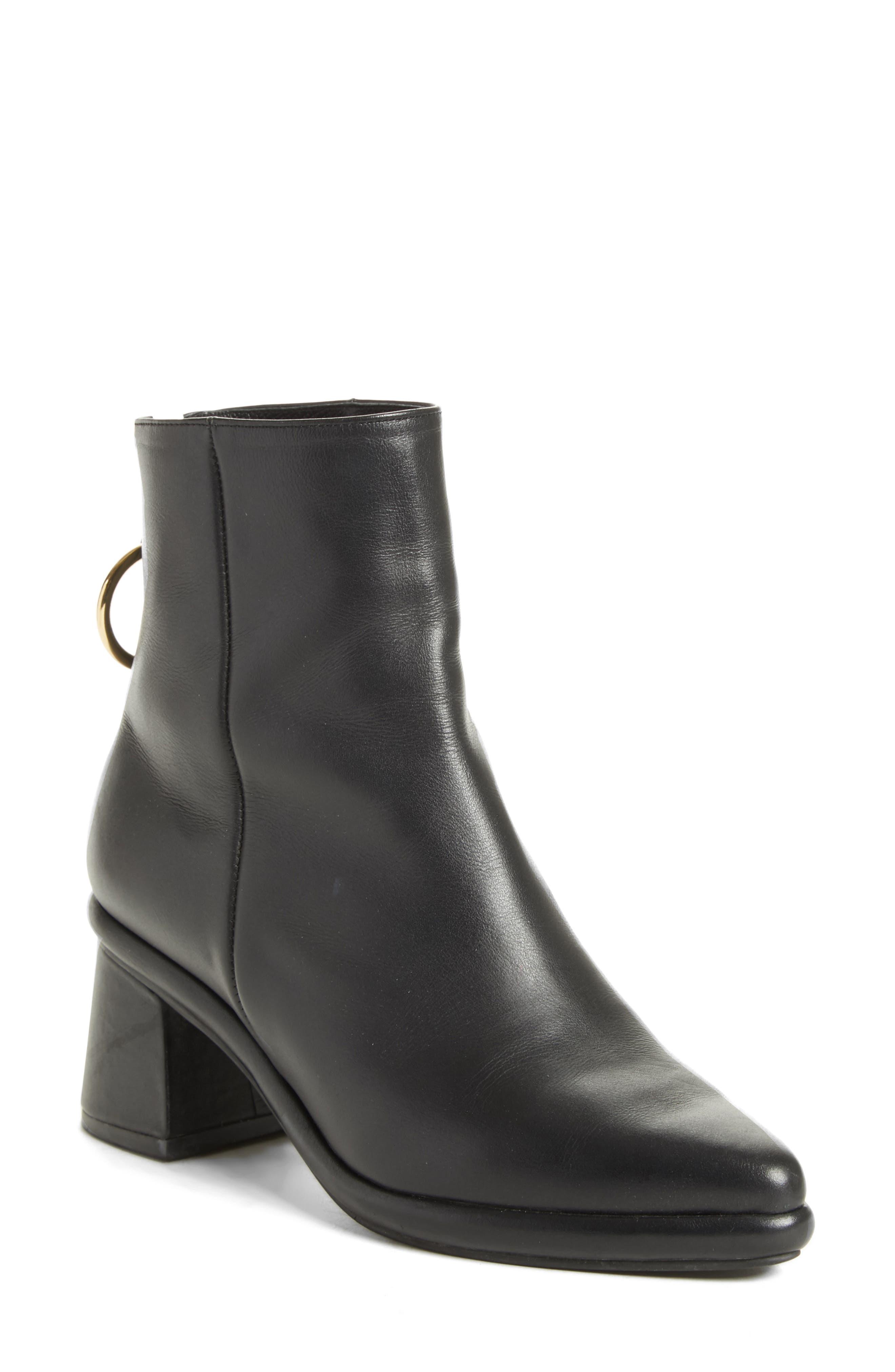 Ring Slim Boot,                             Main thumbnail 1, color,                             BLACK