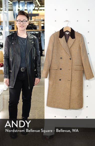 Houndstooth Double Breasted COat, sales video thumbnail