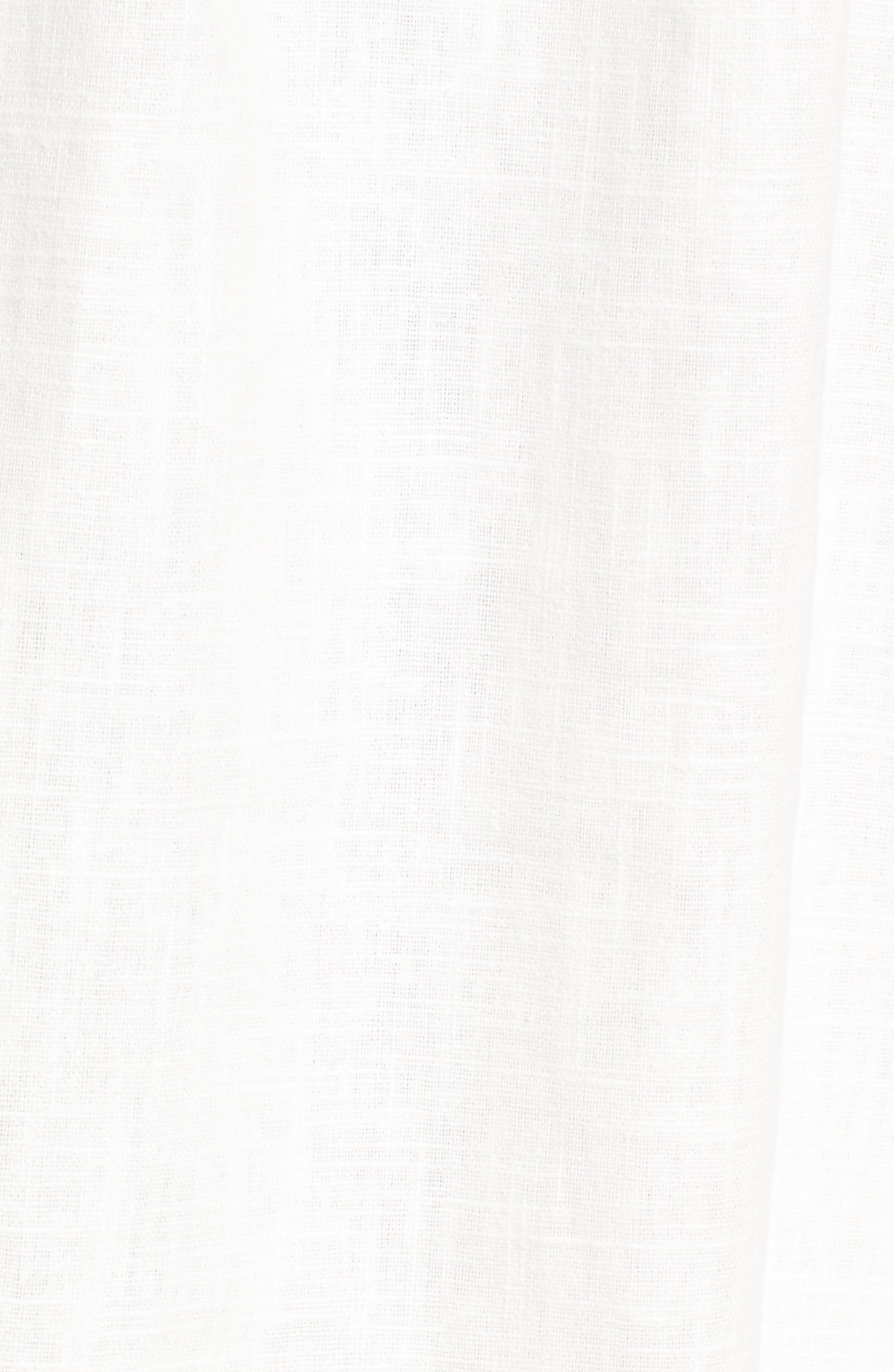 Cotton & Linen Ballerina Midi Dress,                             Alternate thumbnail 5, color,                             WHITE