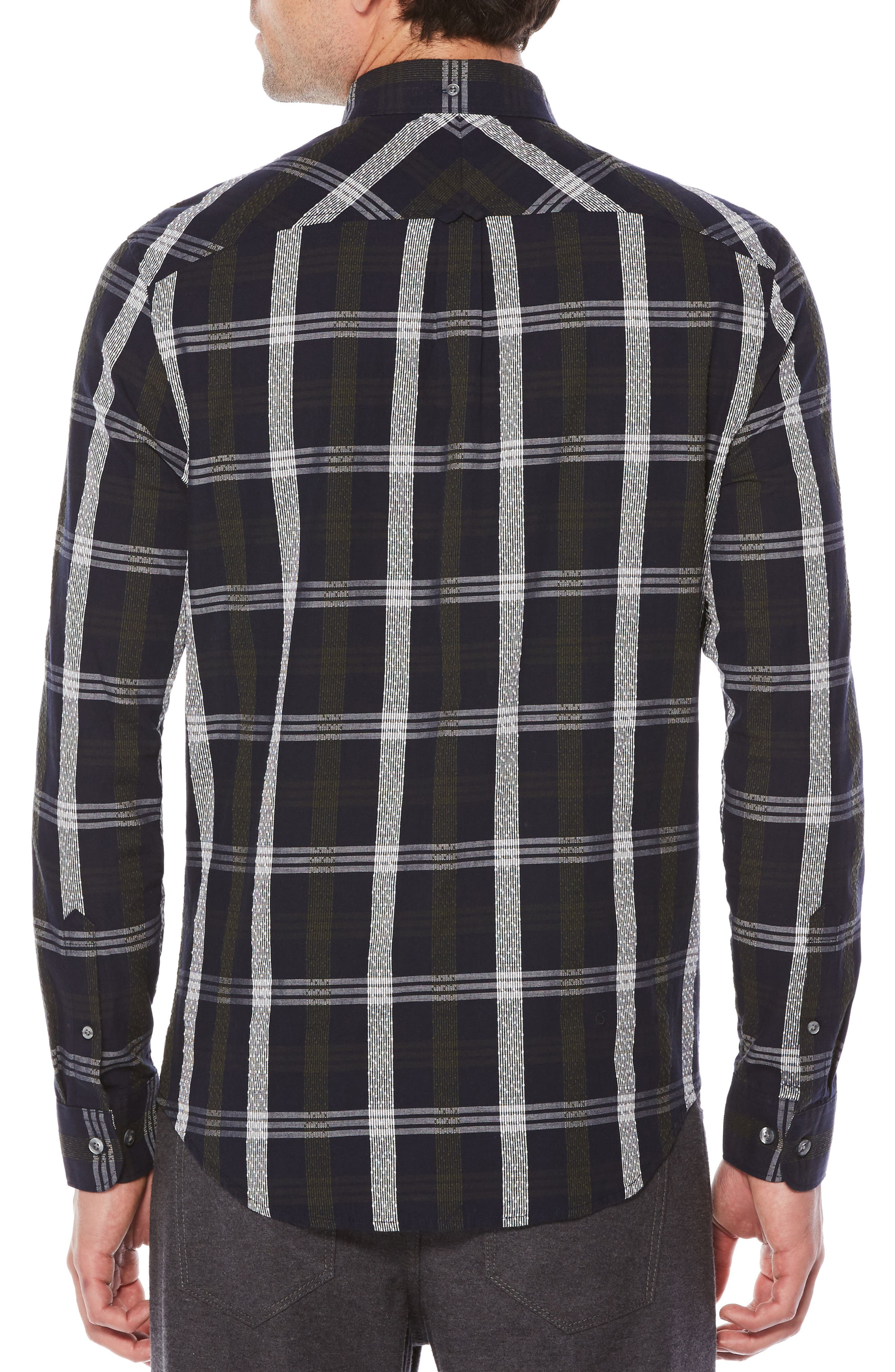 Nep Plaid Slim Shirt,                             Alternate thumbnail 2, color,