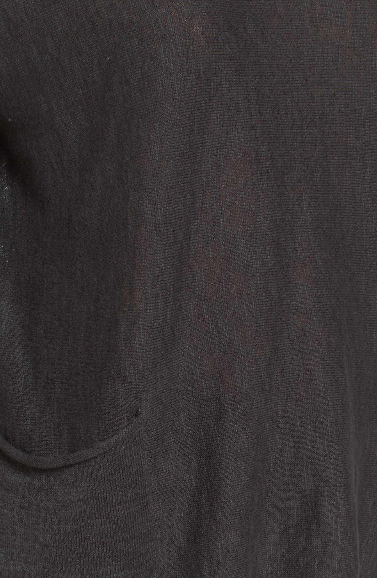 Organic Linen & Cotton Knit Boxy Top,                             Alternate thumbnail 5, color,                             021