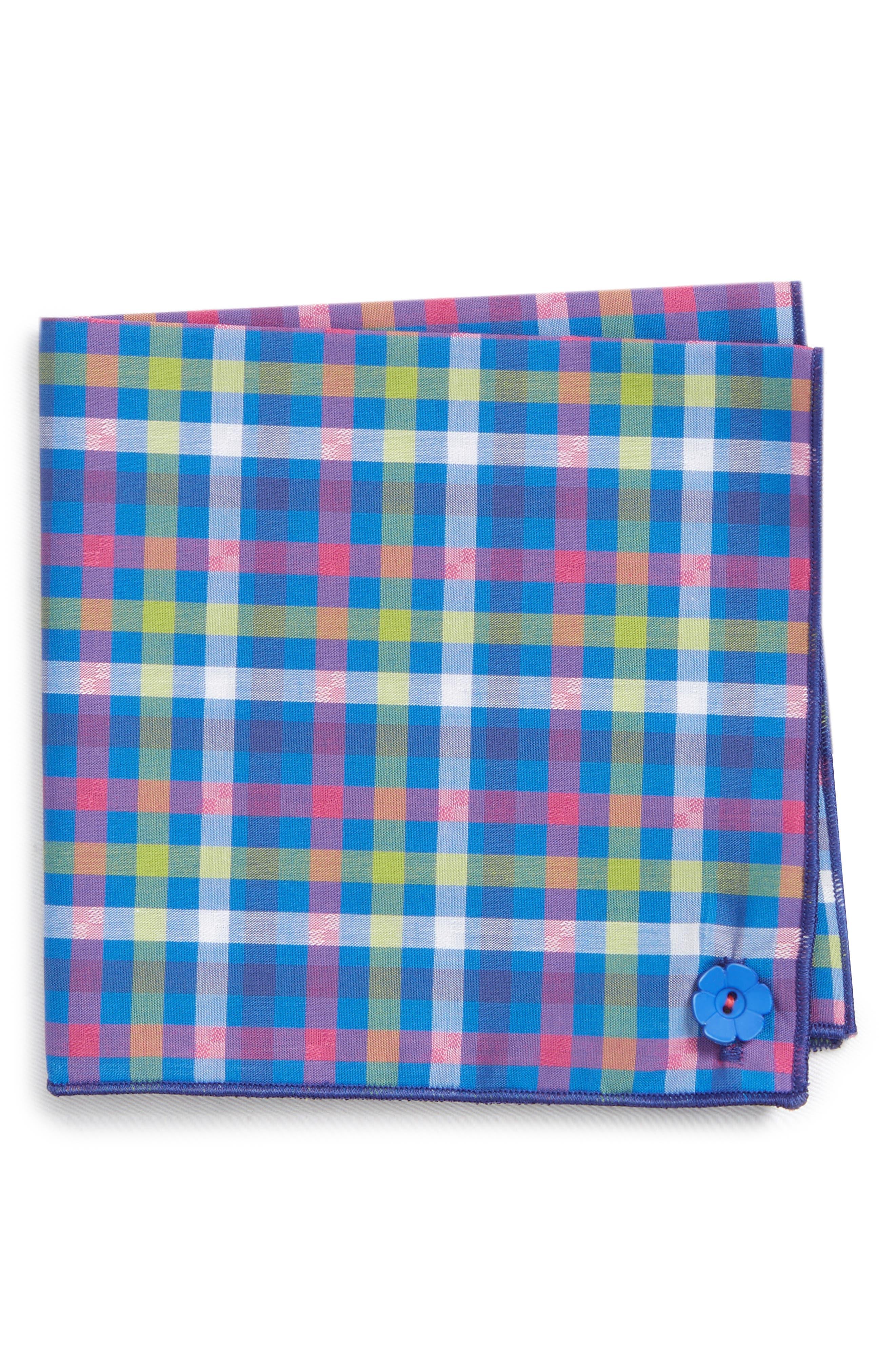 Preppy Jack Cotton Pocket Square,                             Main thumbnail 1, color,                             400