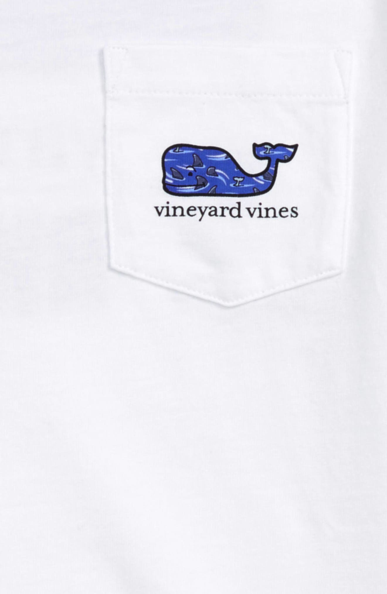 x Shark Week<sup>™</sup> Circling Sharks Pocket T-Shirt,                             Alternate thumbnail 3, color,                             100