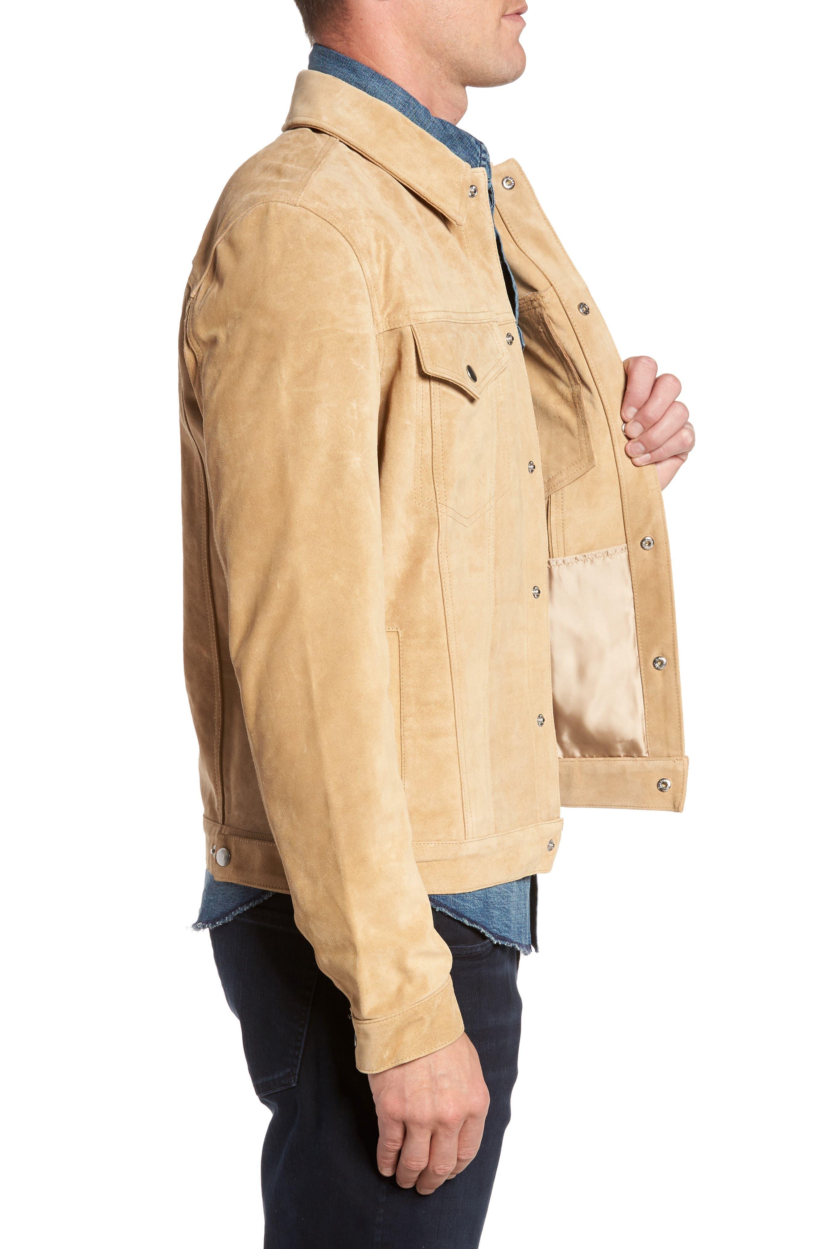 Suede Shirt Jacket,                             Alternate thumbnail 3, color,                             230