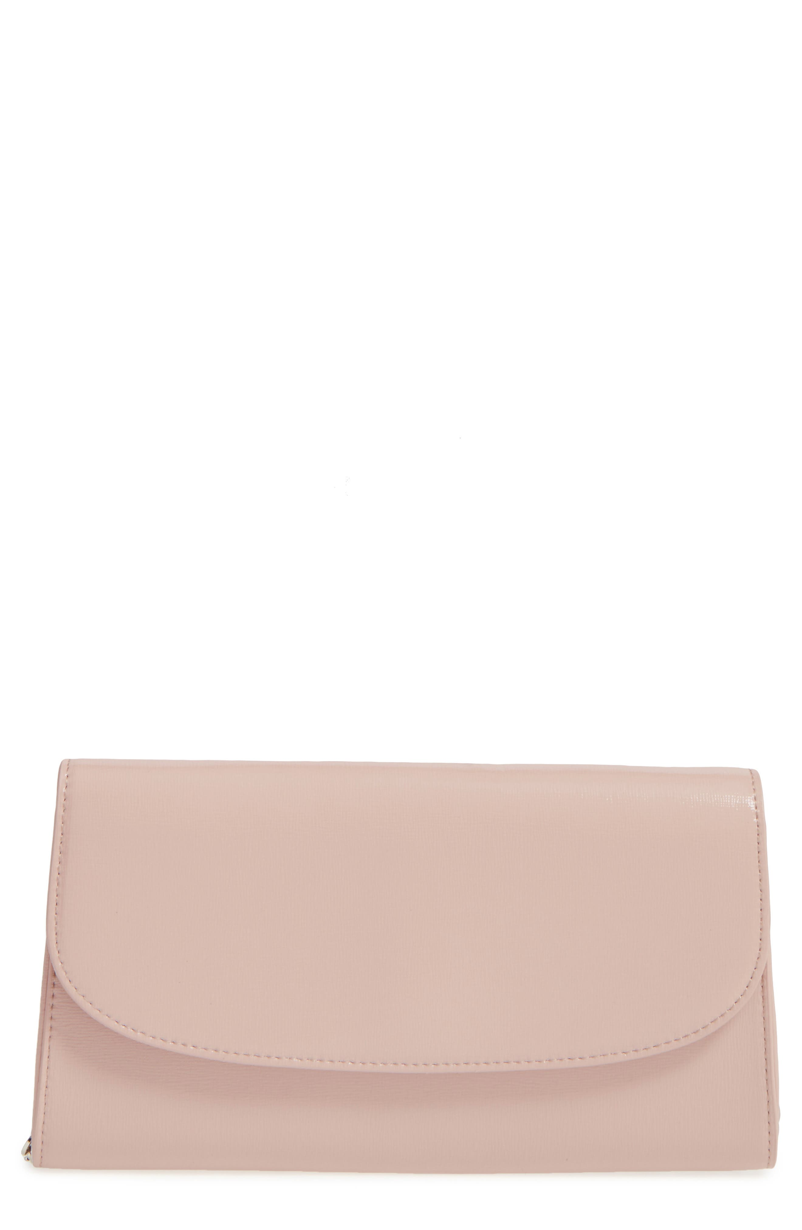Leather Clutch,                             Alternate thumbnail 9, color,