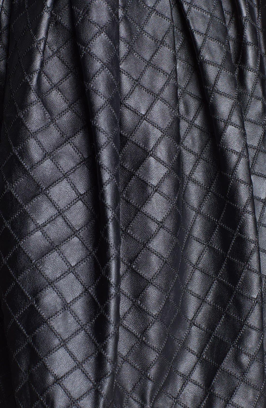 Quilted Faux Leather Skirt,                             Alternate thumbnail 2, color,                             001
