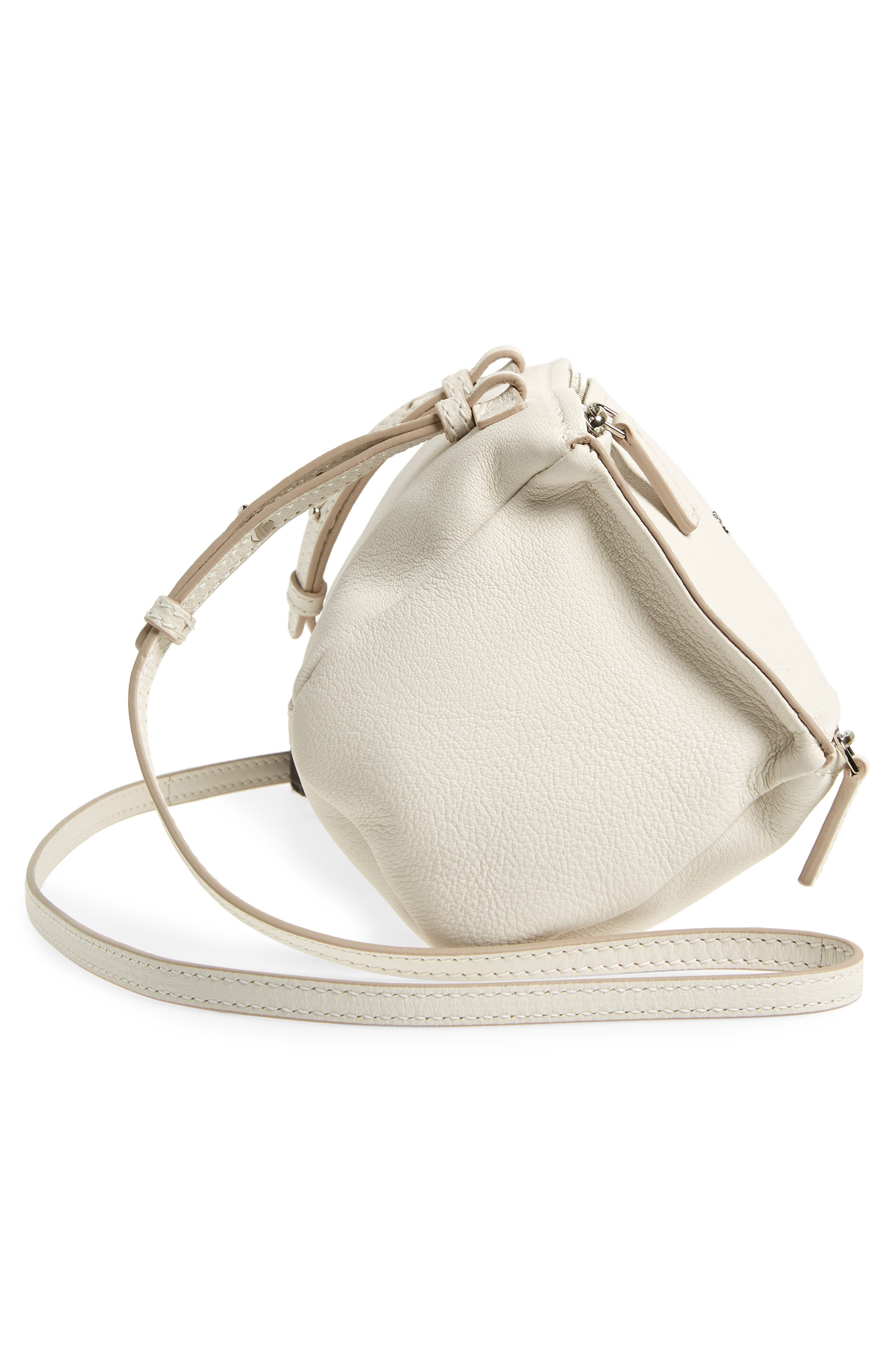 'Mini Pandora' Sugar Leather Shoulder Bag,                             Alternate thumbnail 5, color,                             WHITE