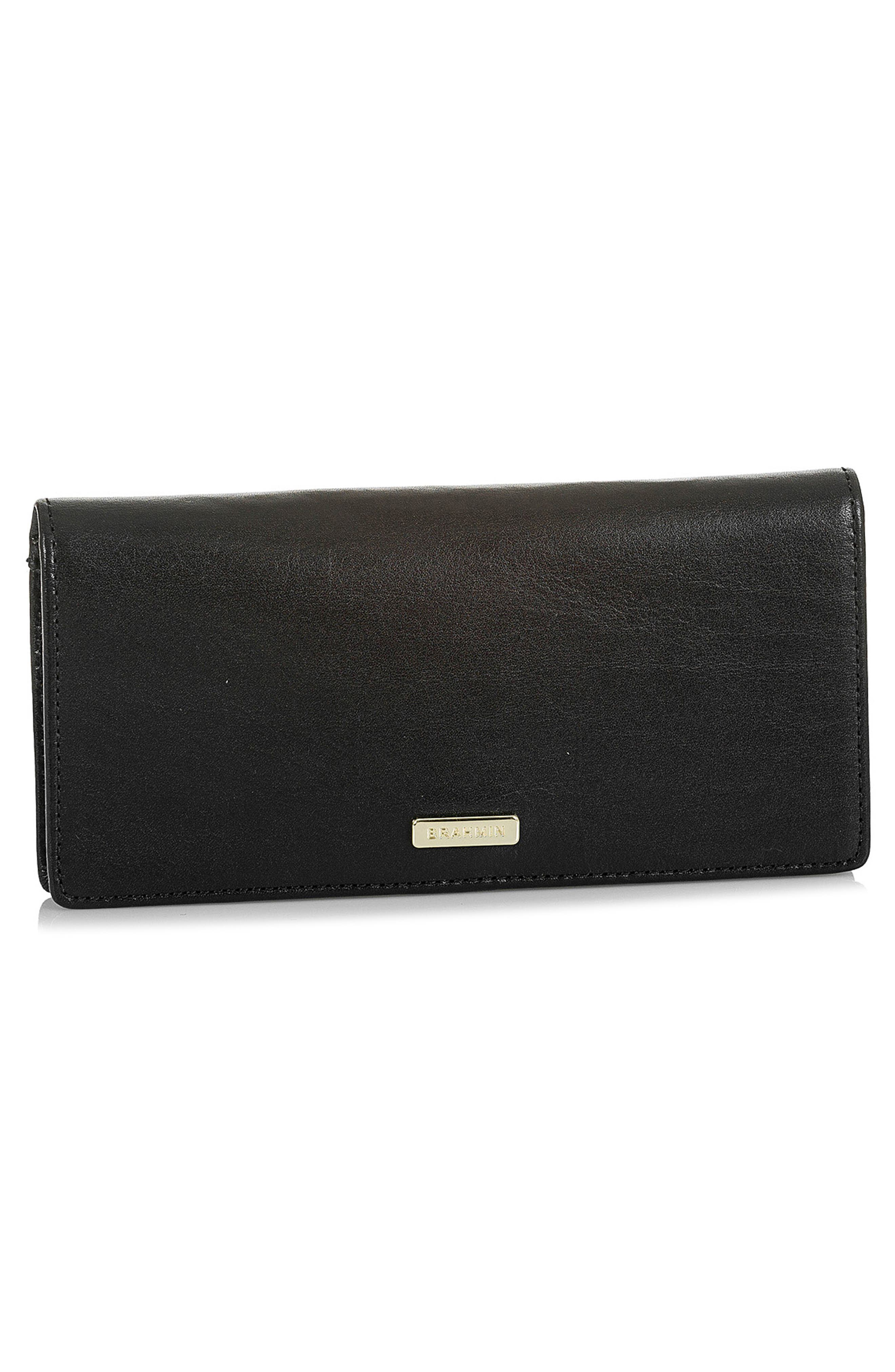 Ady Leather Wallet,                             Alternate thumbnail 4, color,                             BLACK