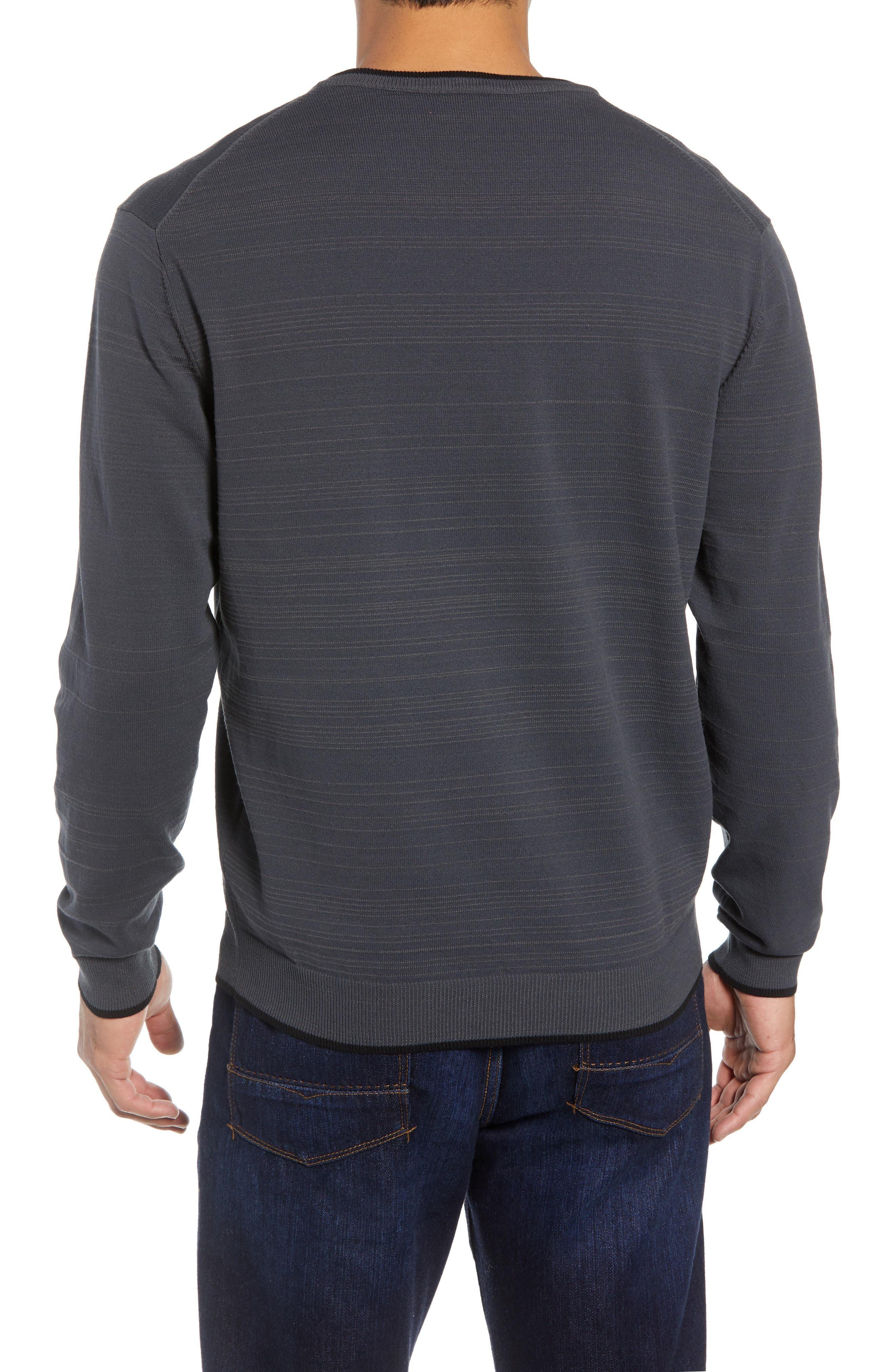 Impact V-Neck Sweater,                             Alternate thumbnail 2, color,                             CHARCOAL