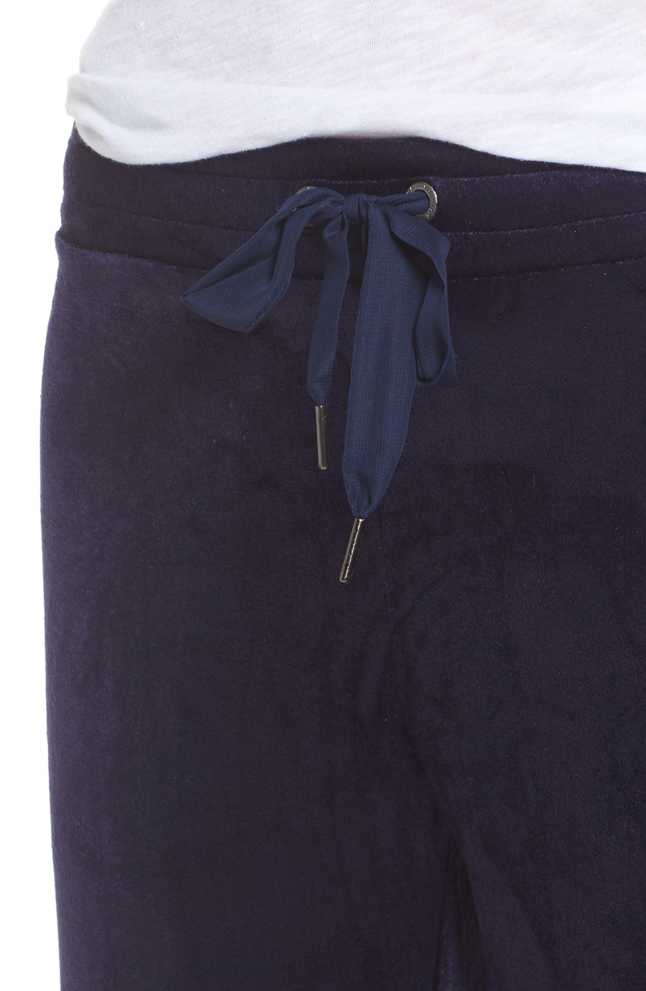 Paris Wide Leg Velour Pants,                             Alternate thumbnail 8, color,