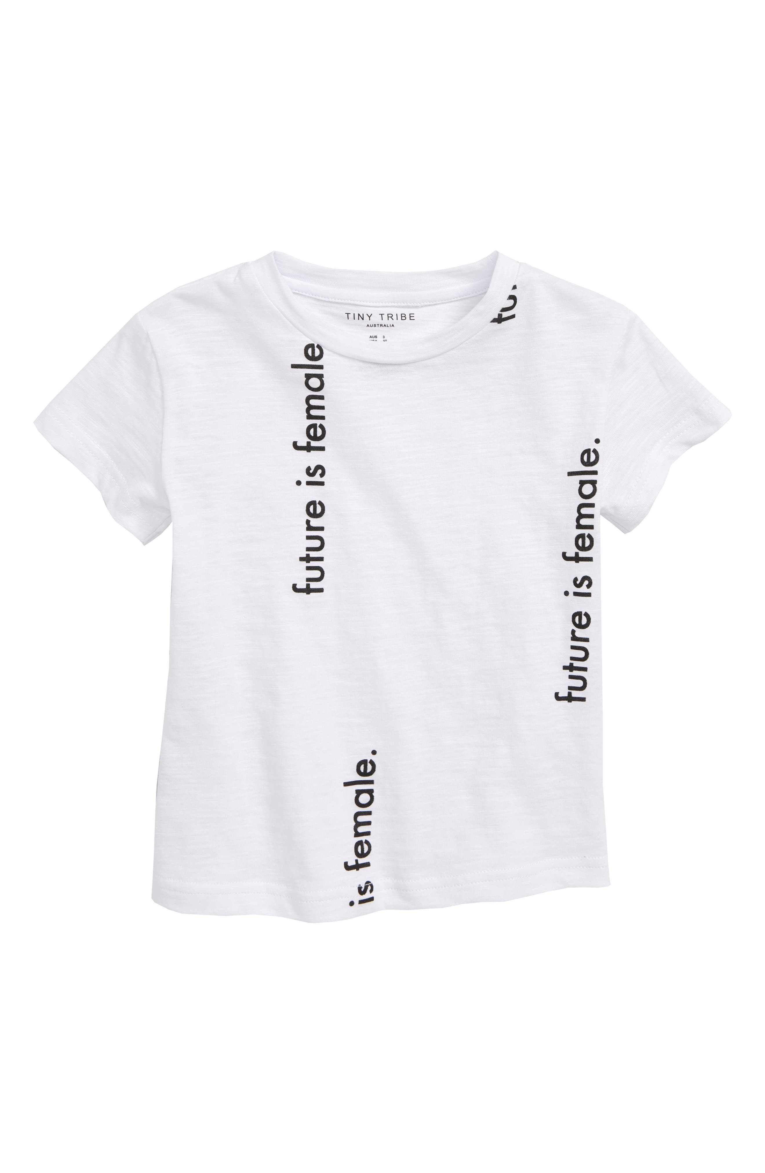 TINY TRIBE Future is Female Graphic Tee, Main, color, 100
