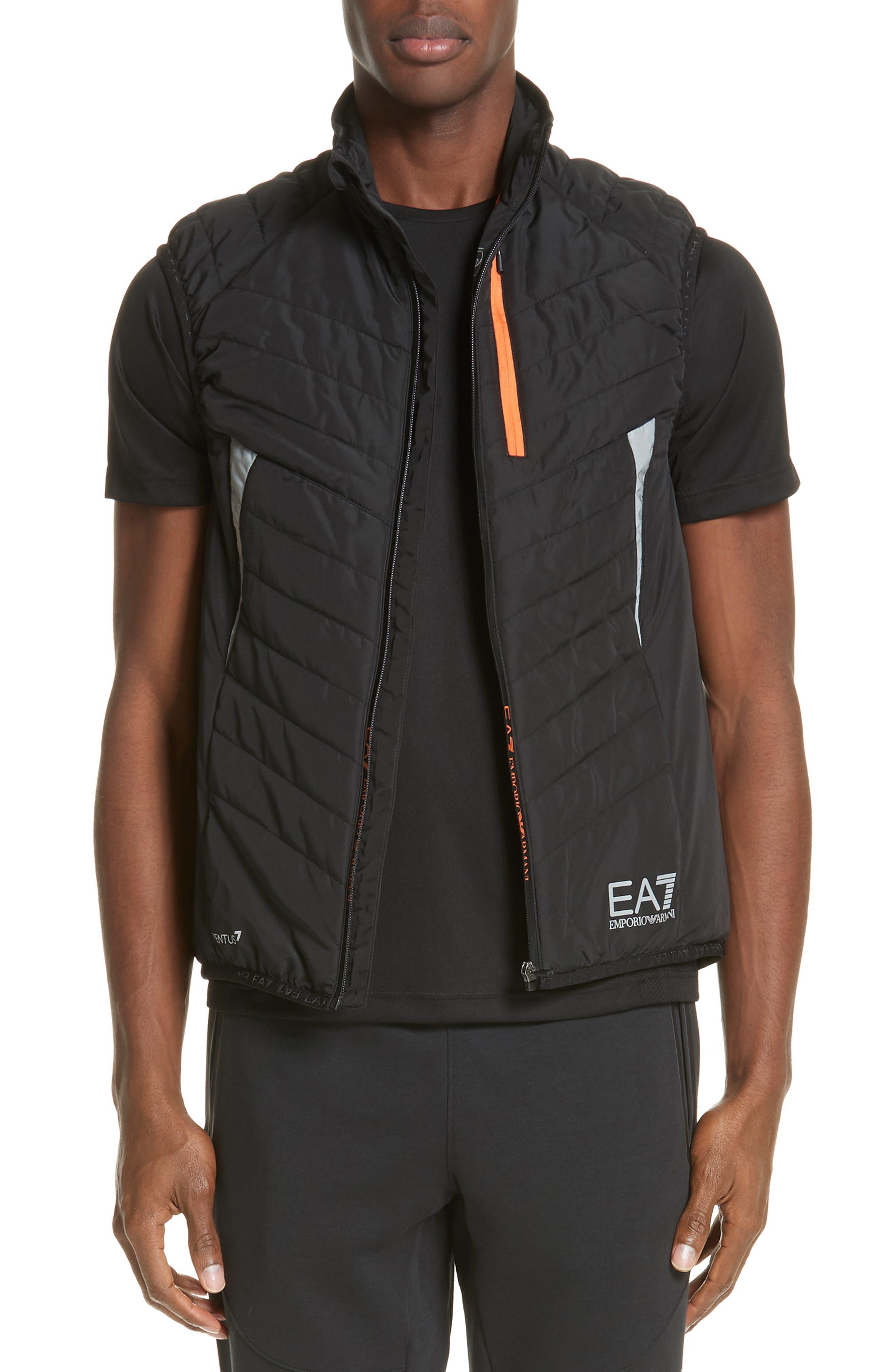 Ea7 Water Resistant Vest, Black
