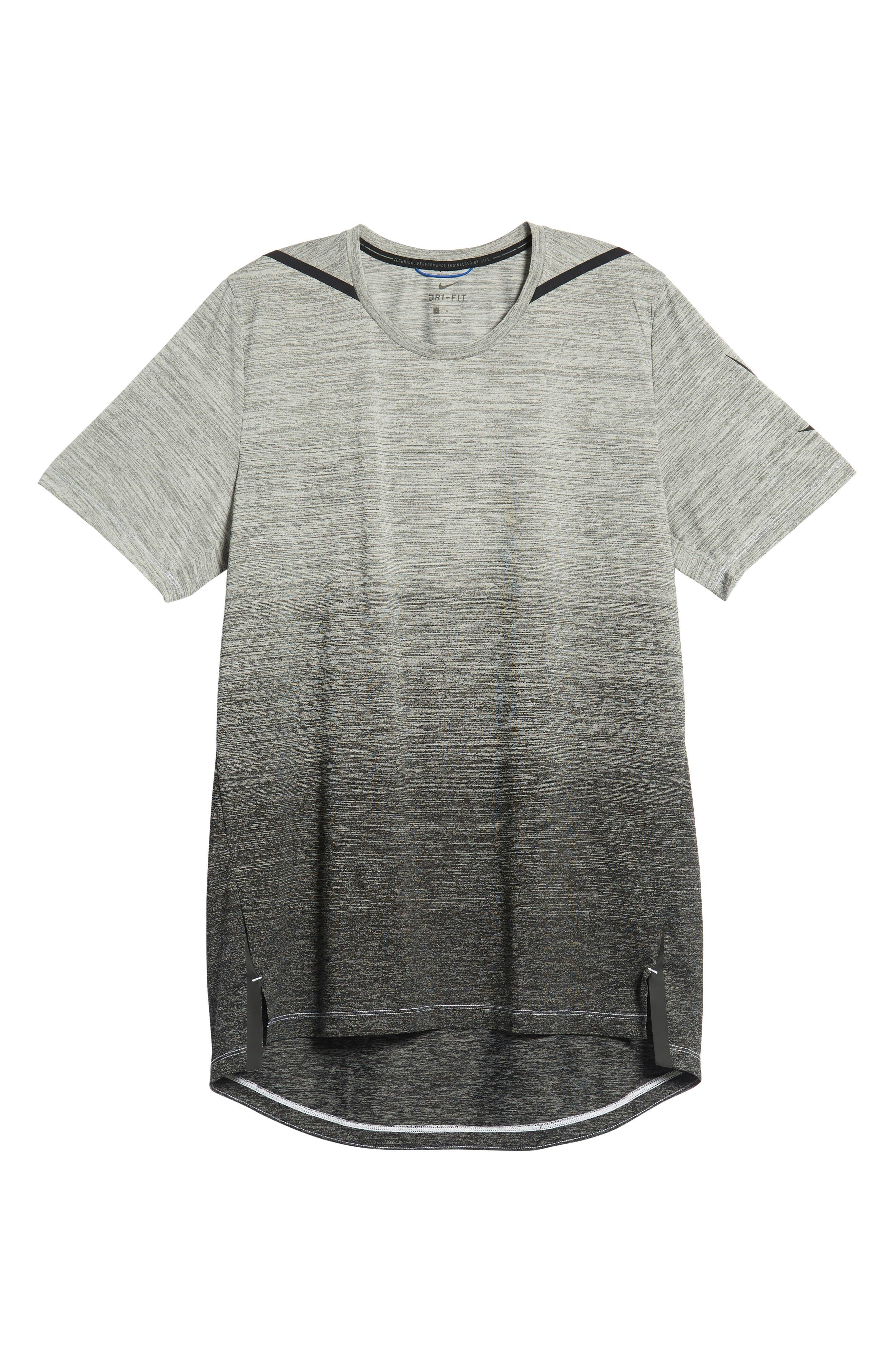 Dry Max Training T-Shirt,                             Alternate thumbnail 6, color,                             BLACK/ WHITE/ HYPER COBALT