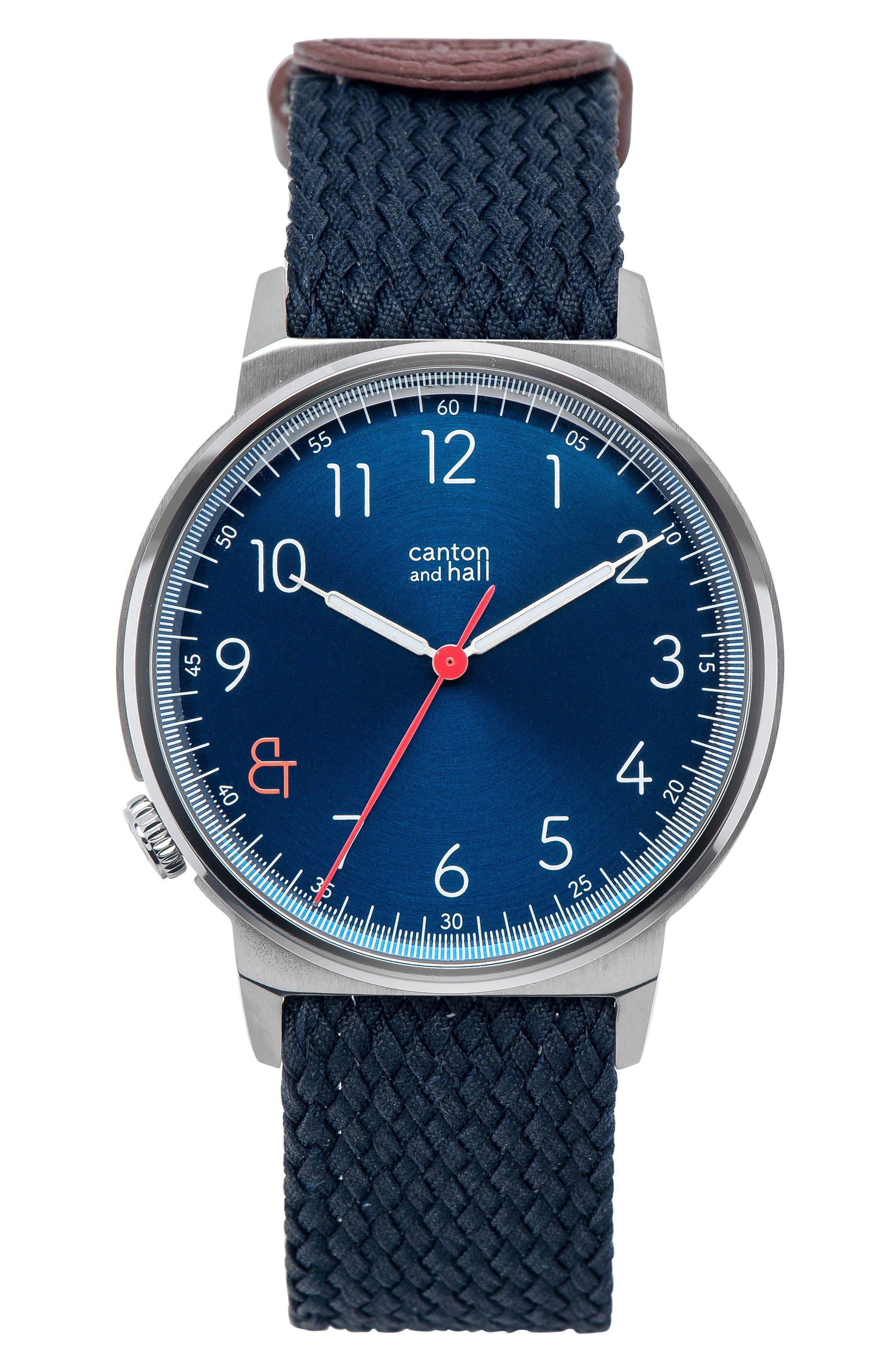 Nylon Strap Watch, 40mm,                         Main,                         color,