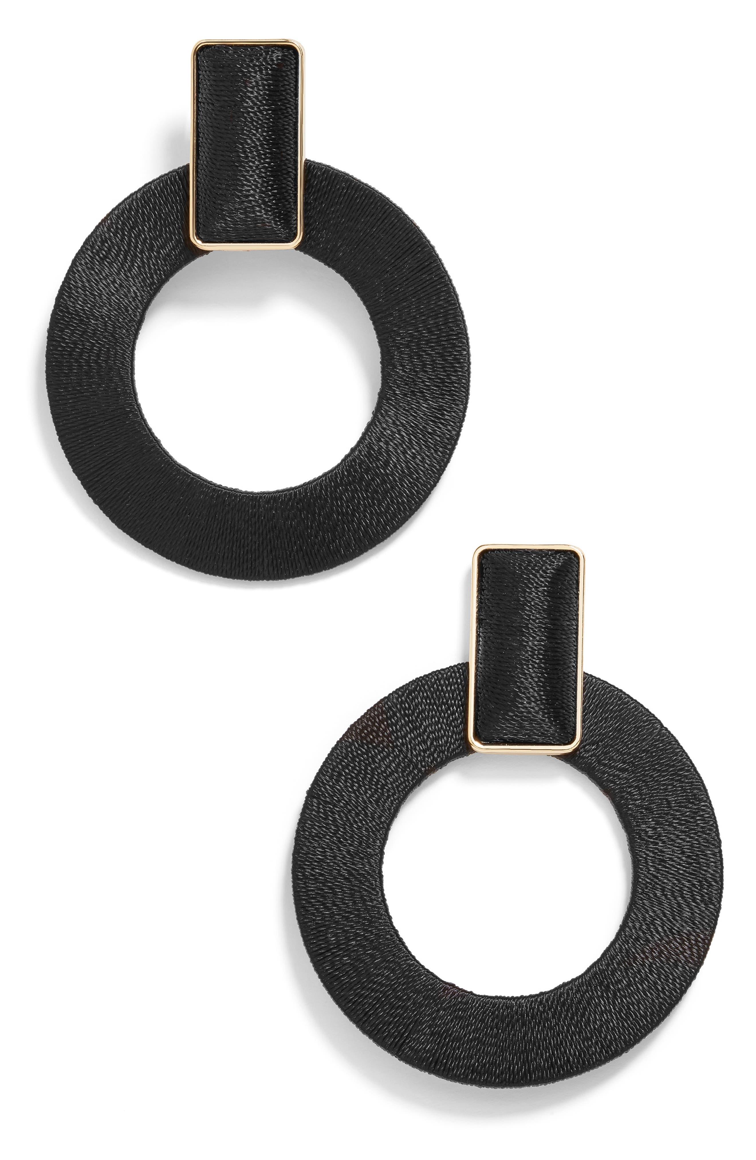 1960s Jewelry Styles and Trends to Wear Womens Baublebar Marisela Hoop Earrings $38.00 AT vintagedancer.com