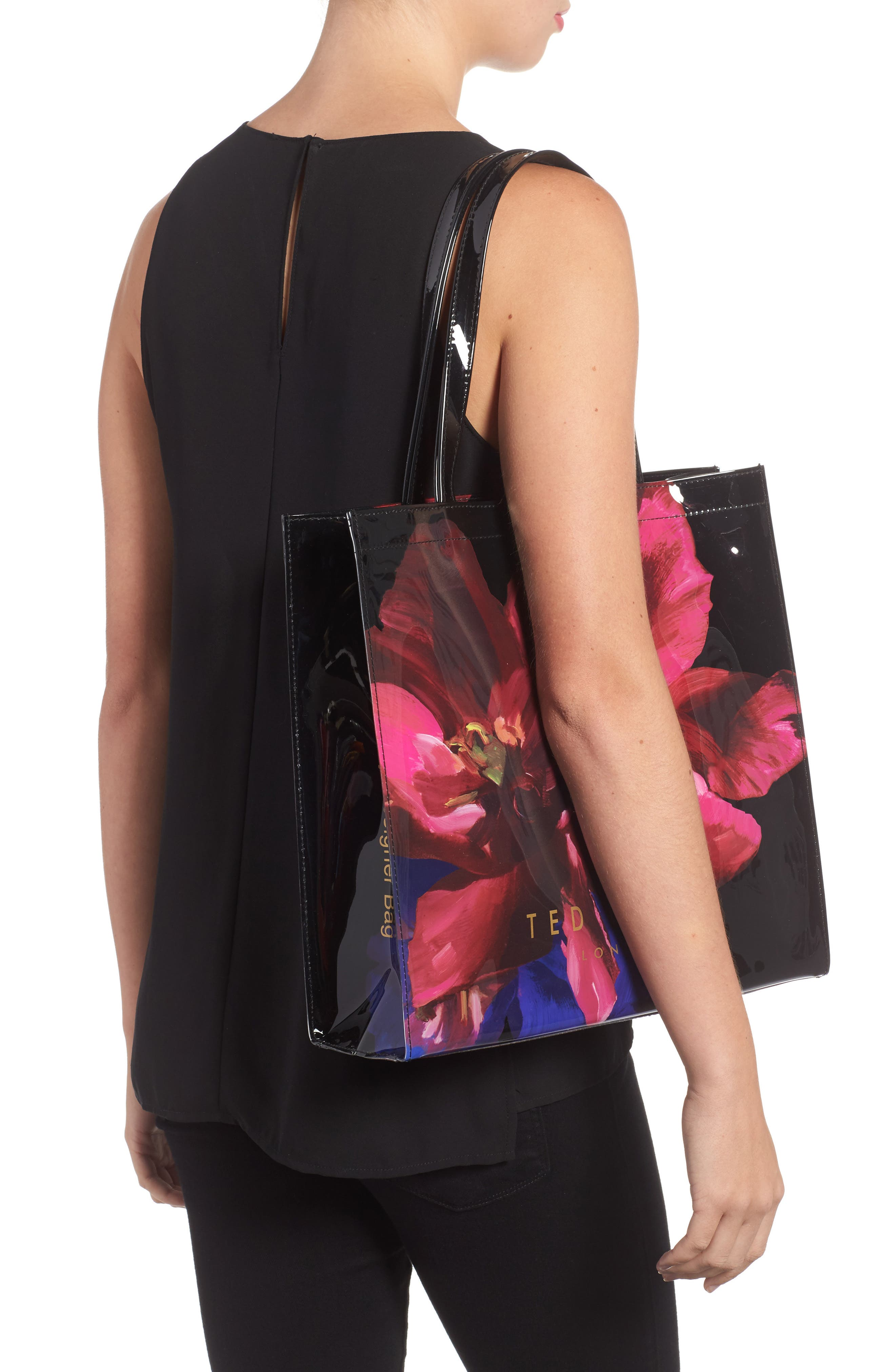 Large Icon - Impressionist Bloom Tote,                             Alternate thumbnail 2, color,                             001