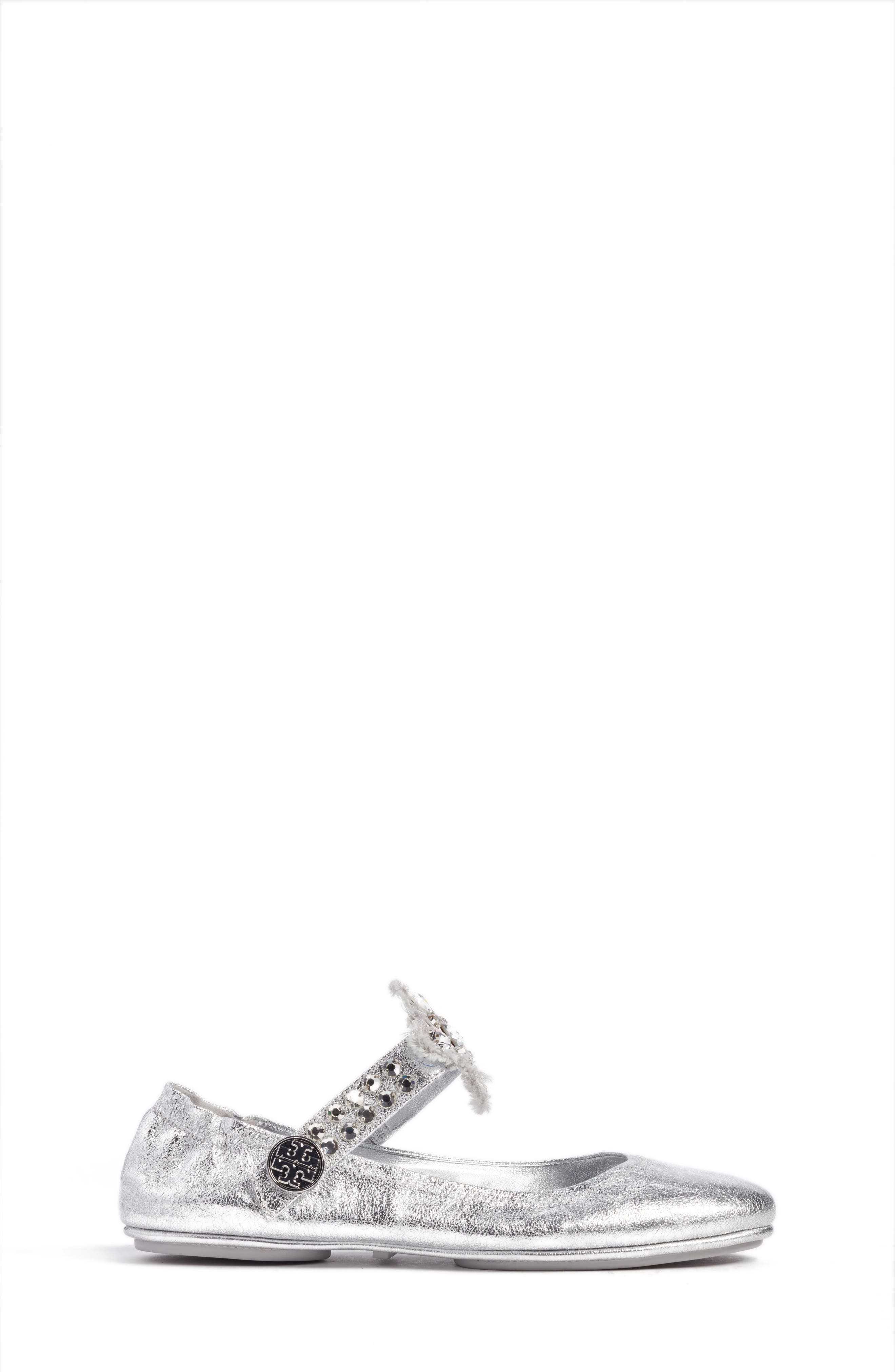 Minnie Embellished Convertible Strap Ballet Flat,                             Alternate thumbnail 11, color,