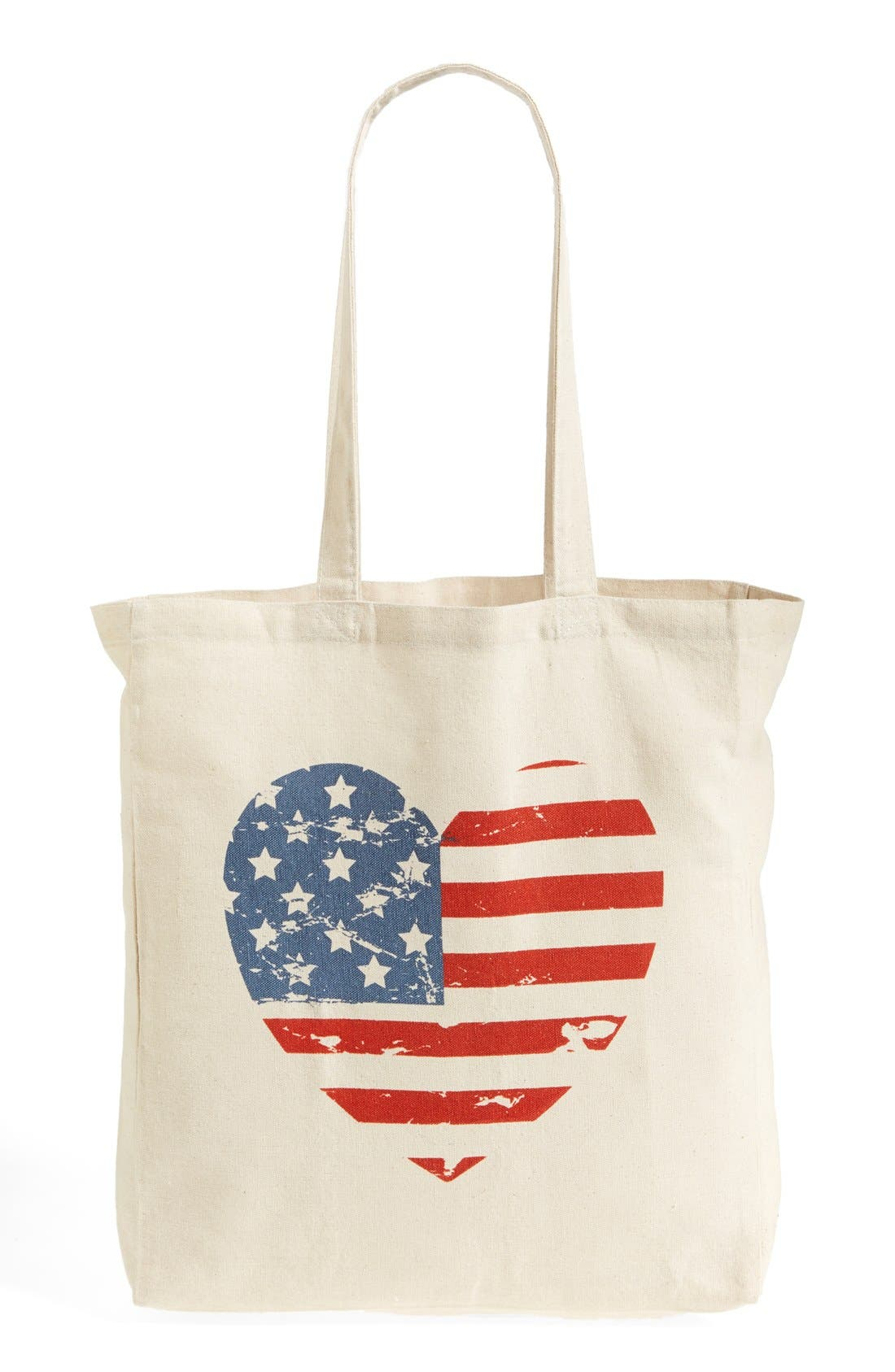 'Flag Heart' Tote,                         Main,                         color, 250