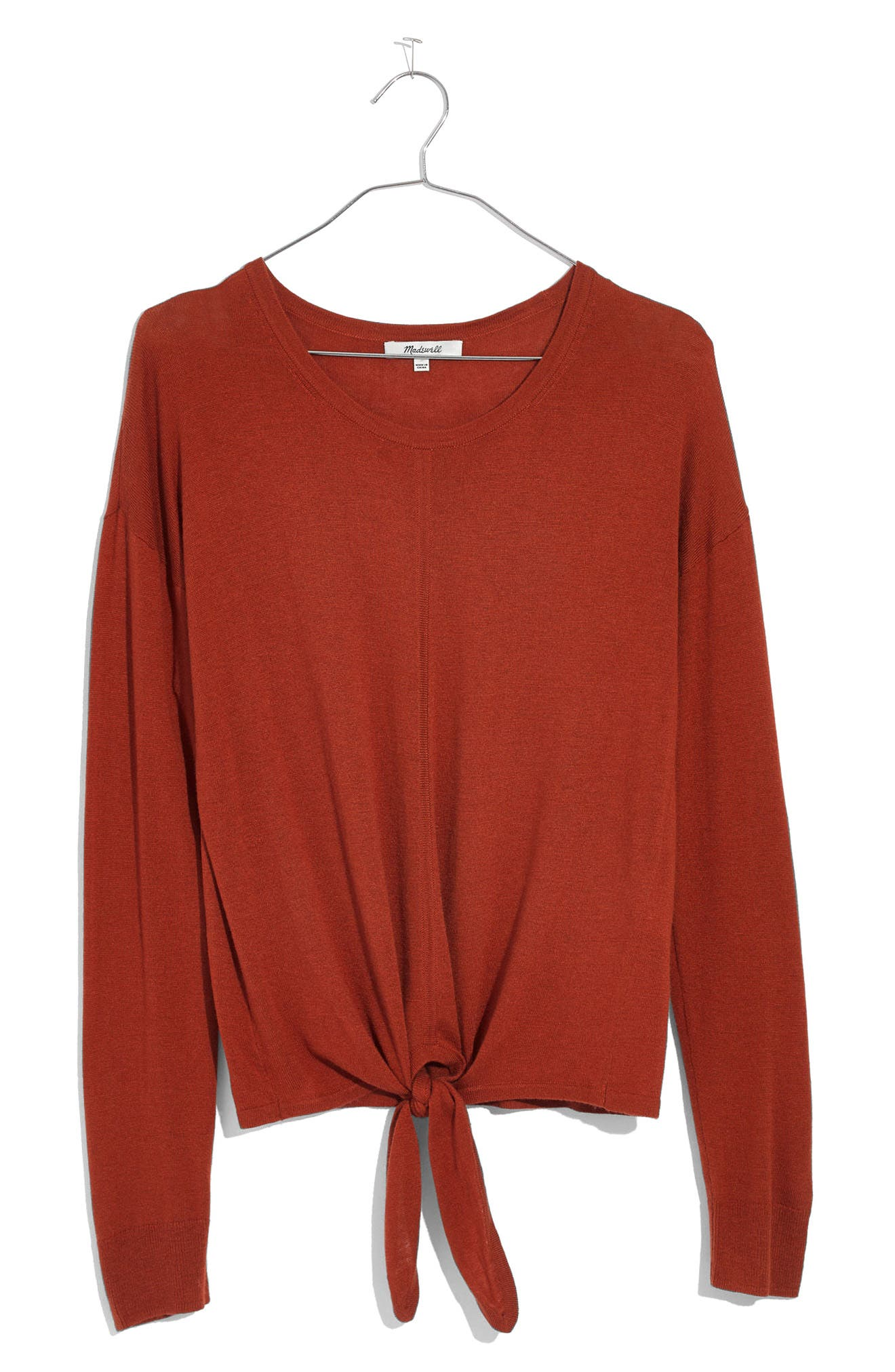 Modern Tie Front Sweater,                             Alternate thumbnail 21, color,
