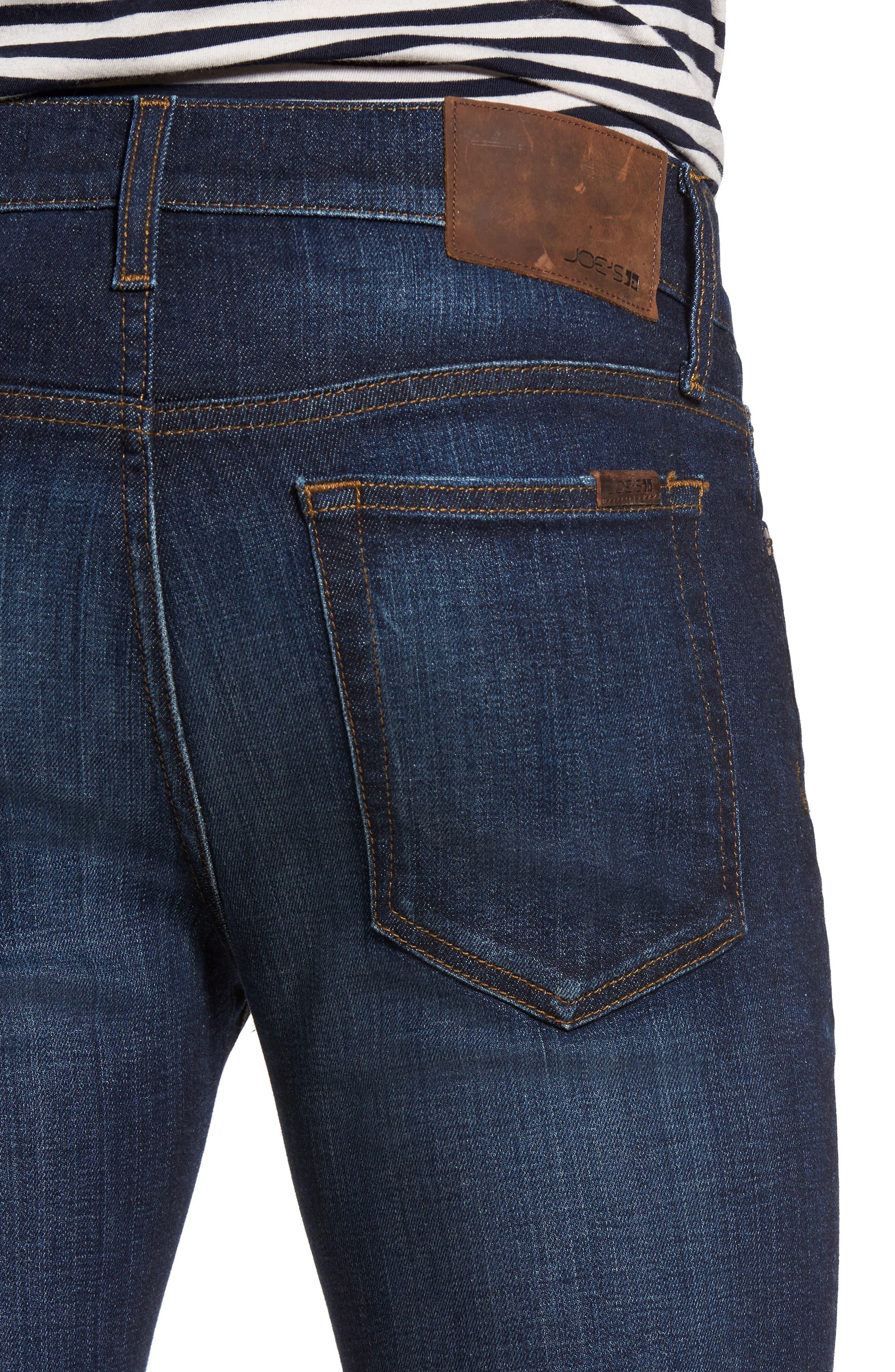 Classic Straight Leg Jeans,                             Alternate thumbnail 4, color,