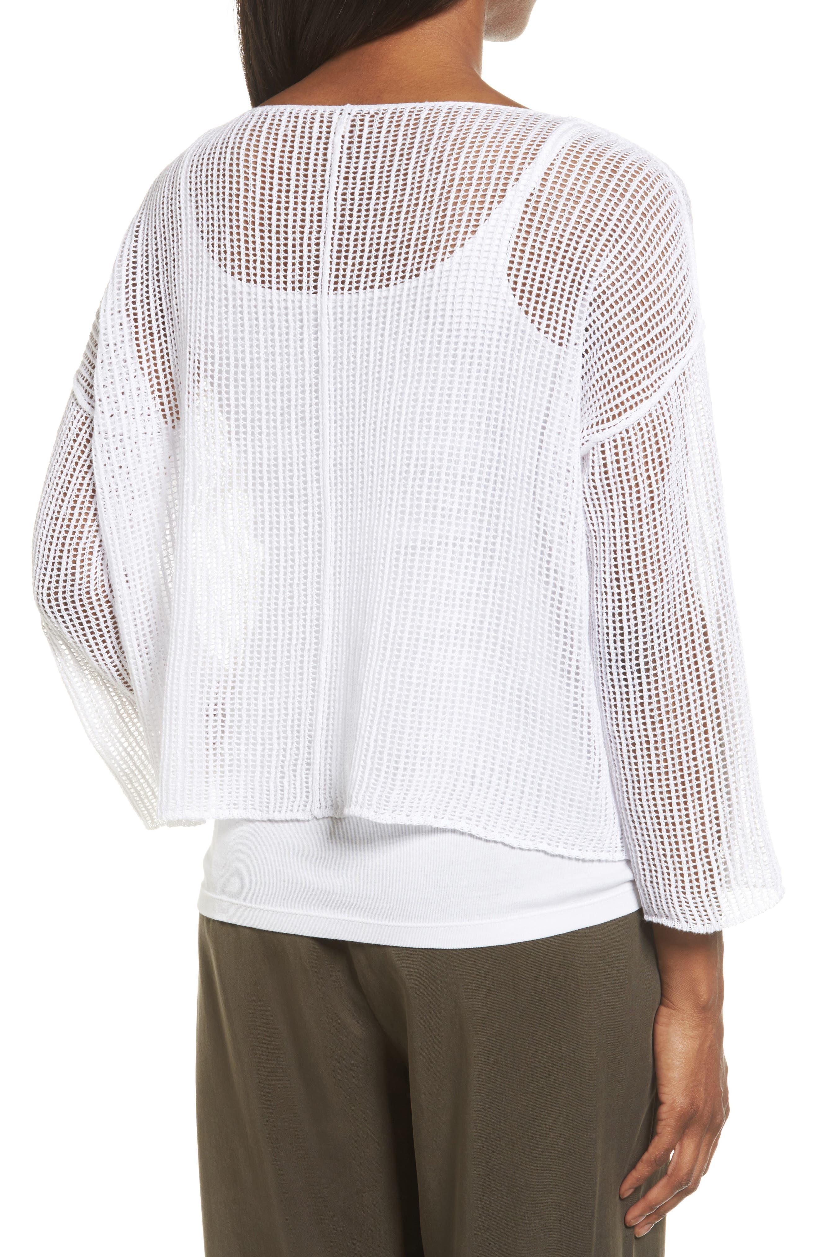 Organic Linen Crop Sweater,                             Alternate thumbnail 7, color,
