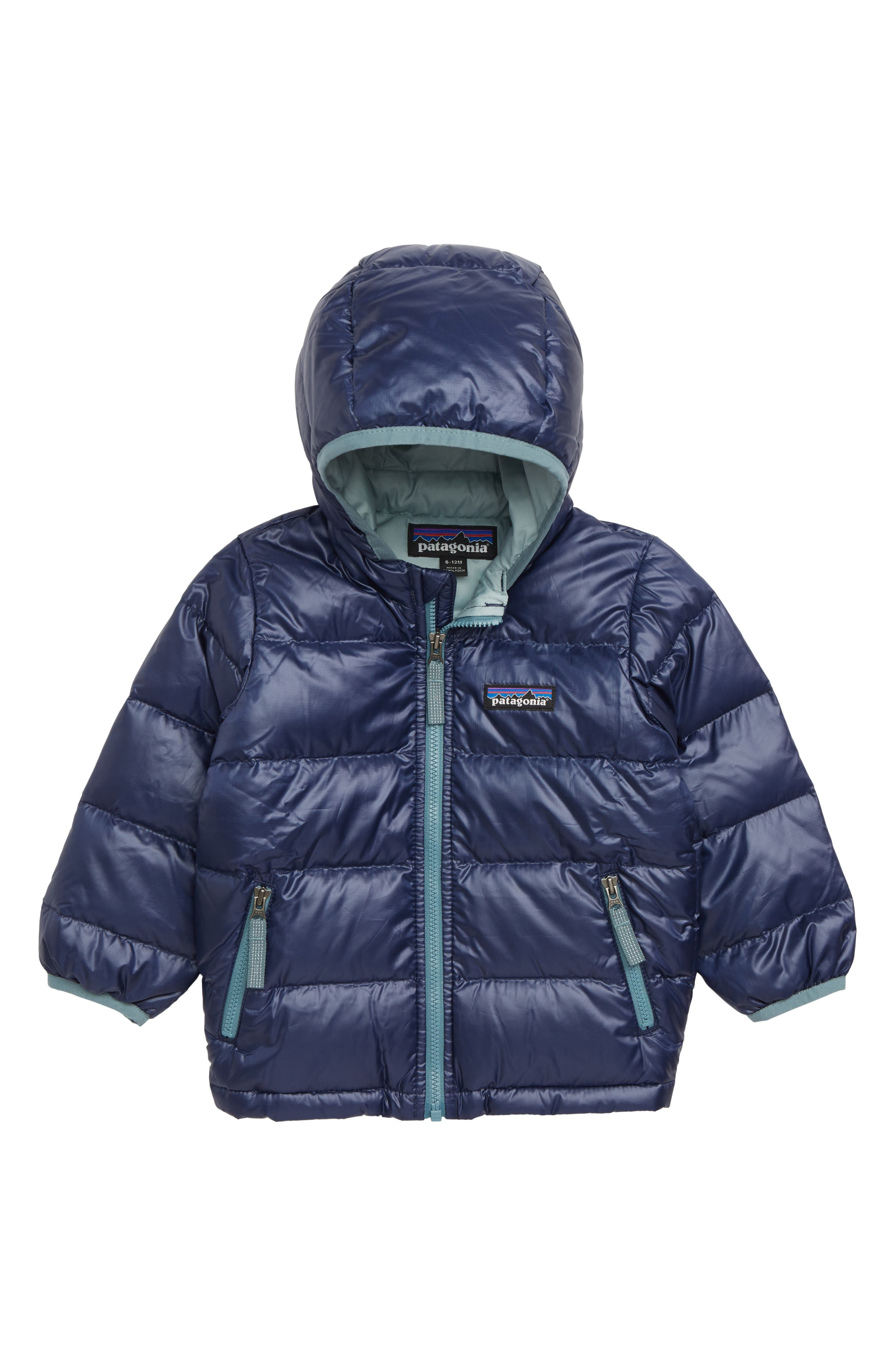 PATAGONIA,                             Hi-Loft Water-Repellent 600-Fill Power Down Sweater Hoodie,                             Main thumbnail 1, color,                             CNY CLASSIC NAVY