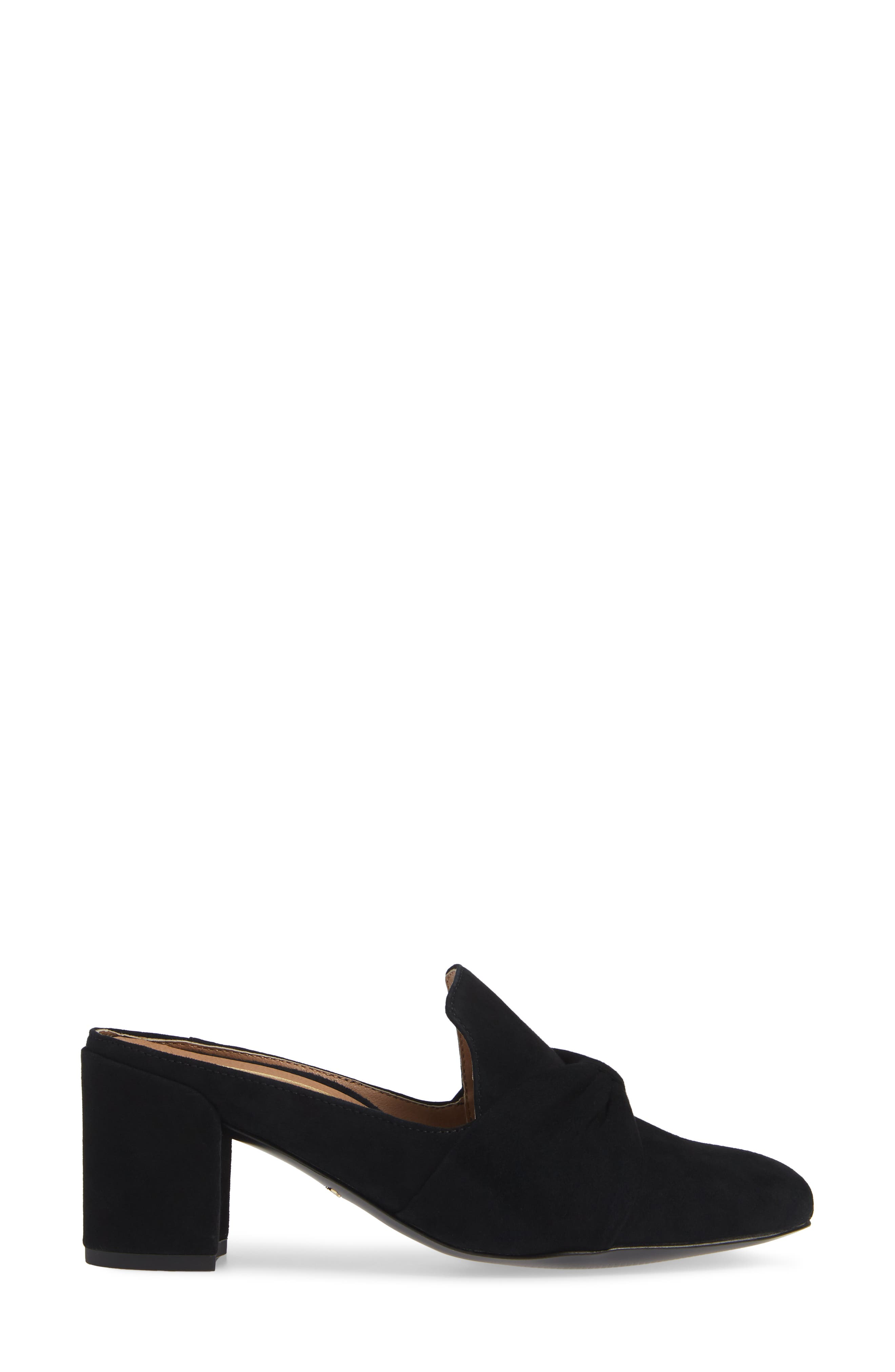 Presley Mule,                             Alternate thumbnail 3, color,                             BLACK SUEDE