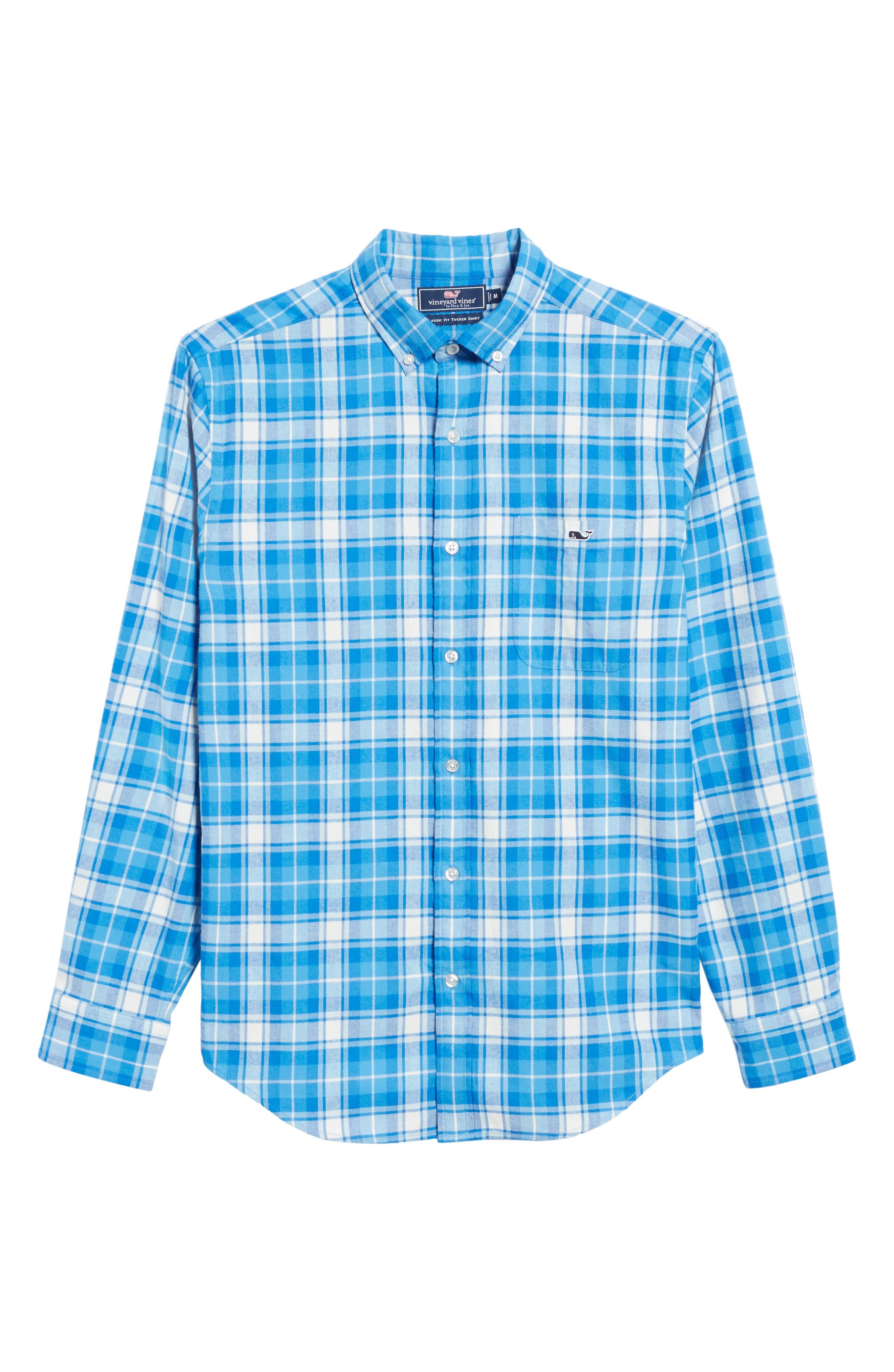 Tucker Lone Point Classic Fit Plaid Sport Shirt,                             Alternate thumbnail 6, color,                             400