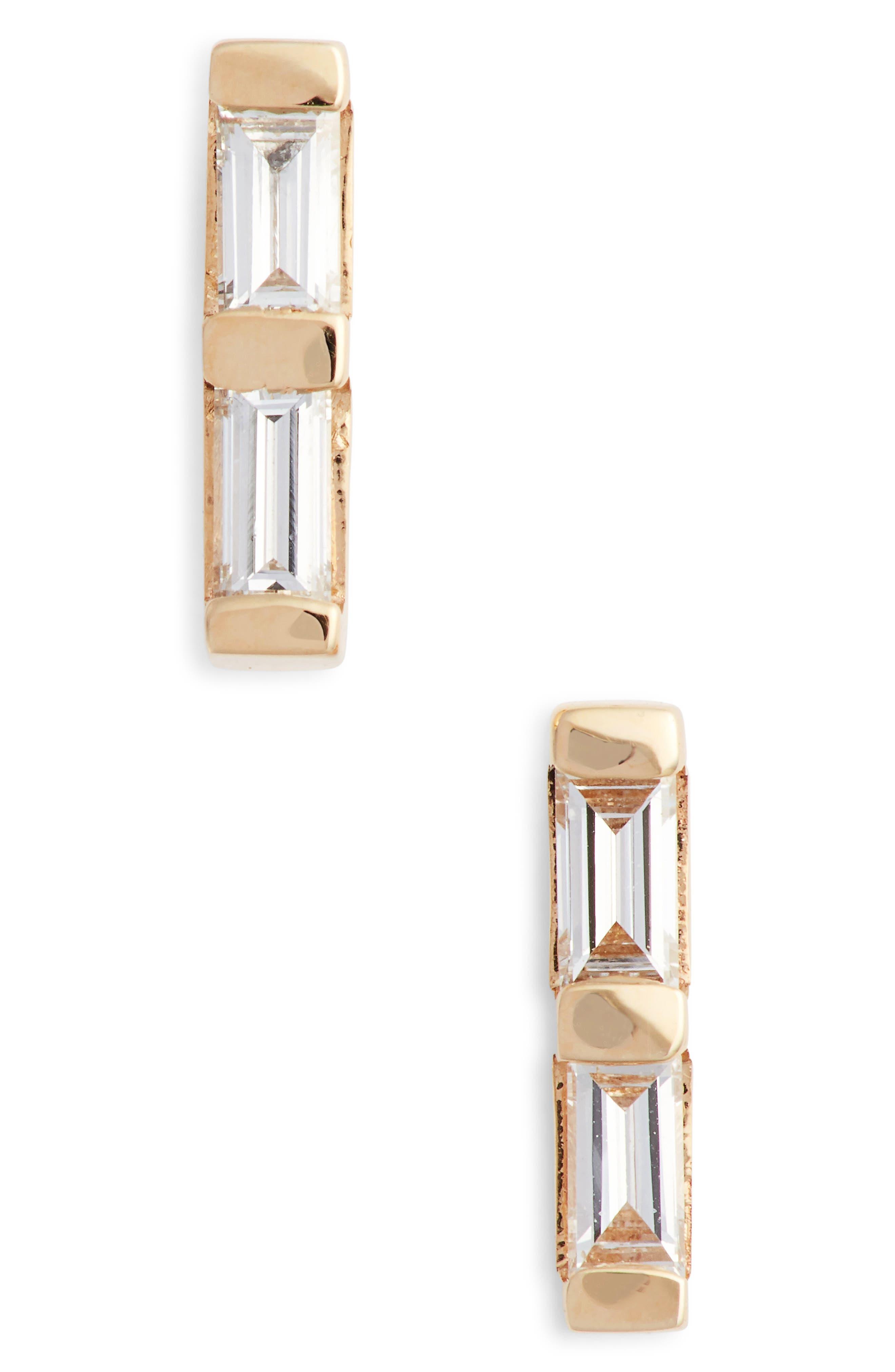 Dana Rebecca Sadie Diamond Stud Earrings,                             Main thumbnail 1, color,                             YELLOW GOLD