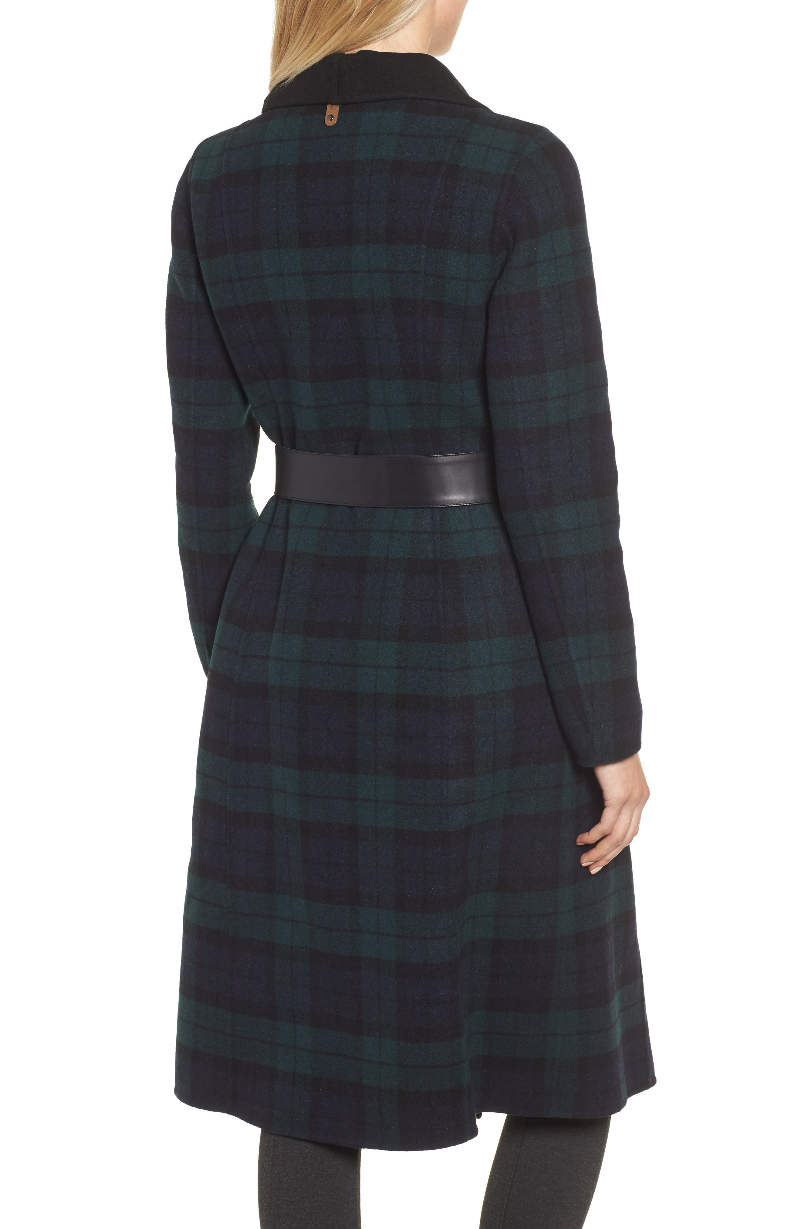 MACKAGE,                             Double Face Wool Leather Belted Coat,                             Alternate thumbnail 2, color,                             411