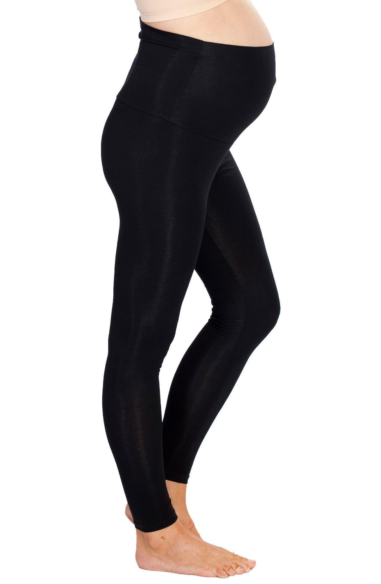 Set of 2 Maternity Leggings,                         Main,                         color, PRINT/ BLACK