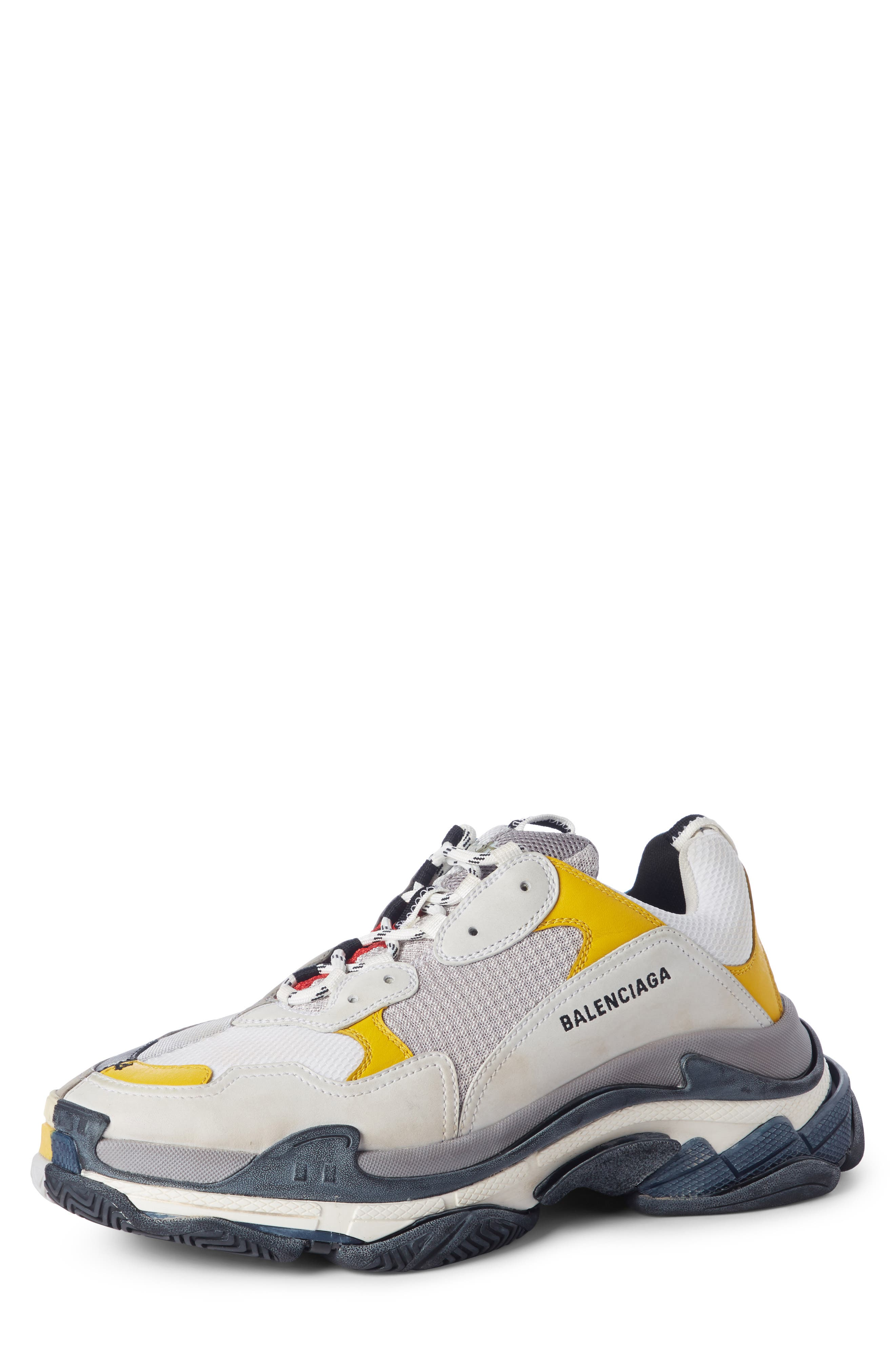 Triple-S Split Sneaker,                         Main,                         color, BEIGE/ ROUGE
