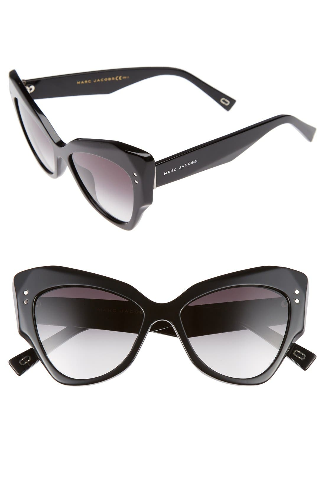52mm Cat Eye Sunglasses,                         Main,                         color, 001