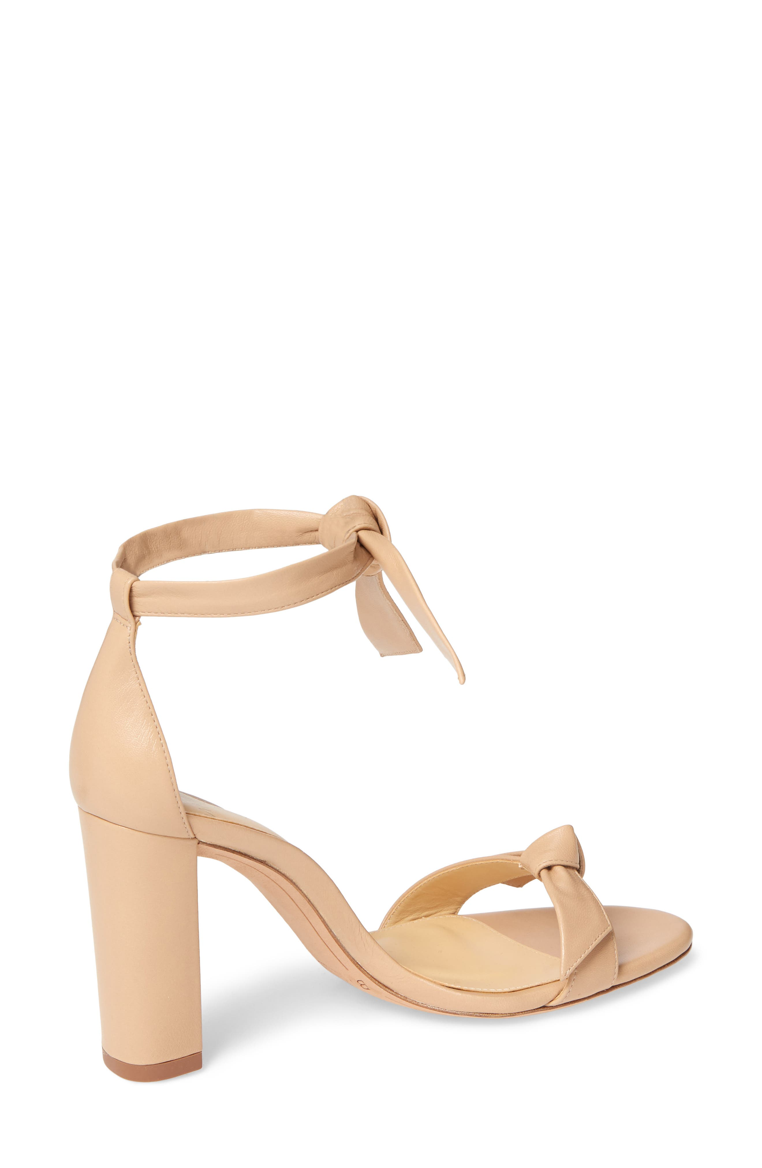Clarita Knotted Sandal,                             Alternate thumbnail 2, color,                             NUDE LEATHER