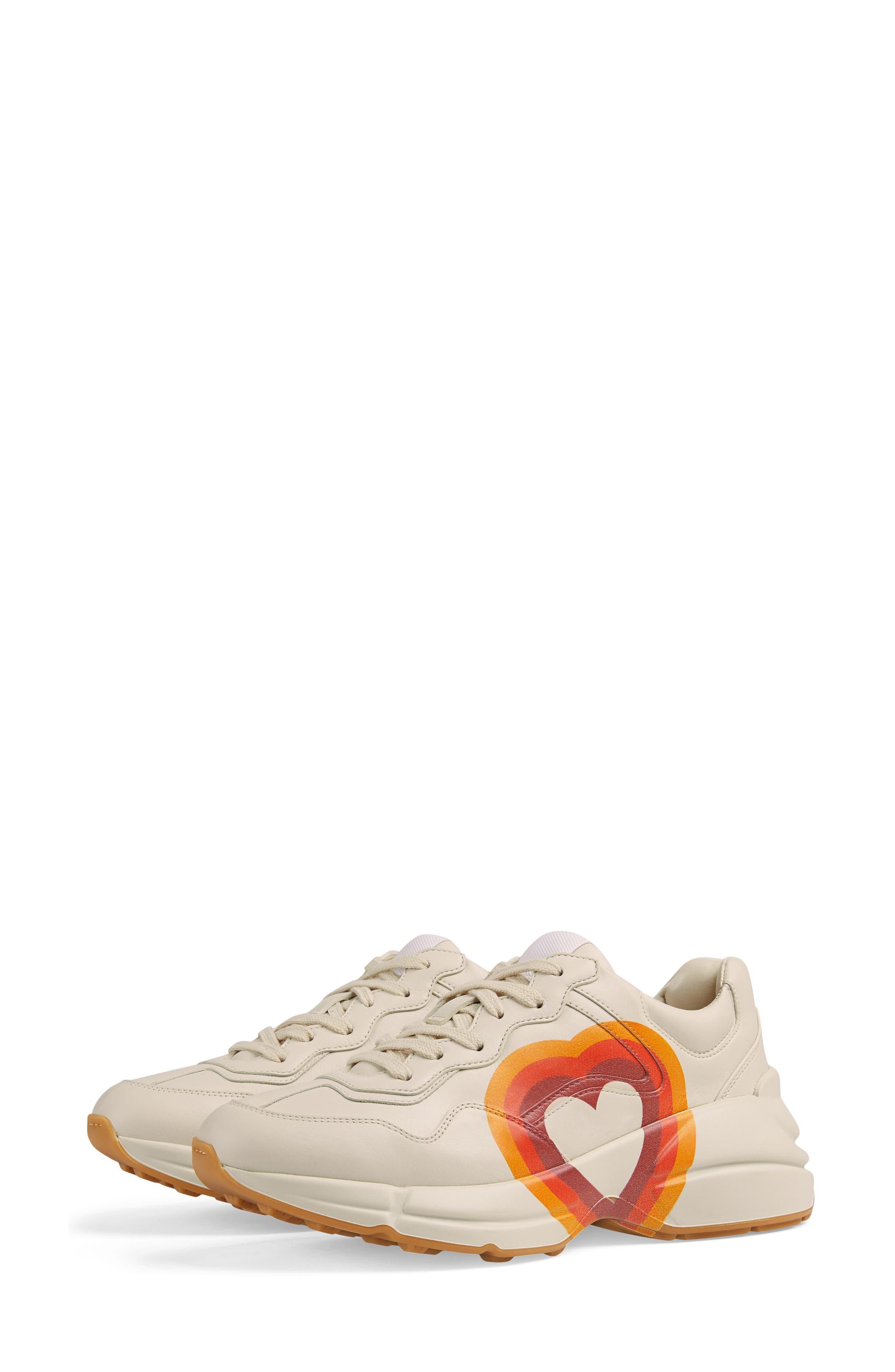 Rhyton Double G Sneaker,                             Alternate thumbnail 6, color,                             MYSTIC WHITE