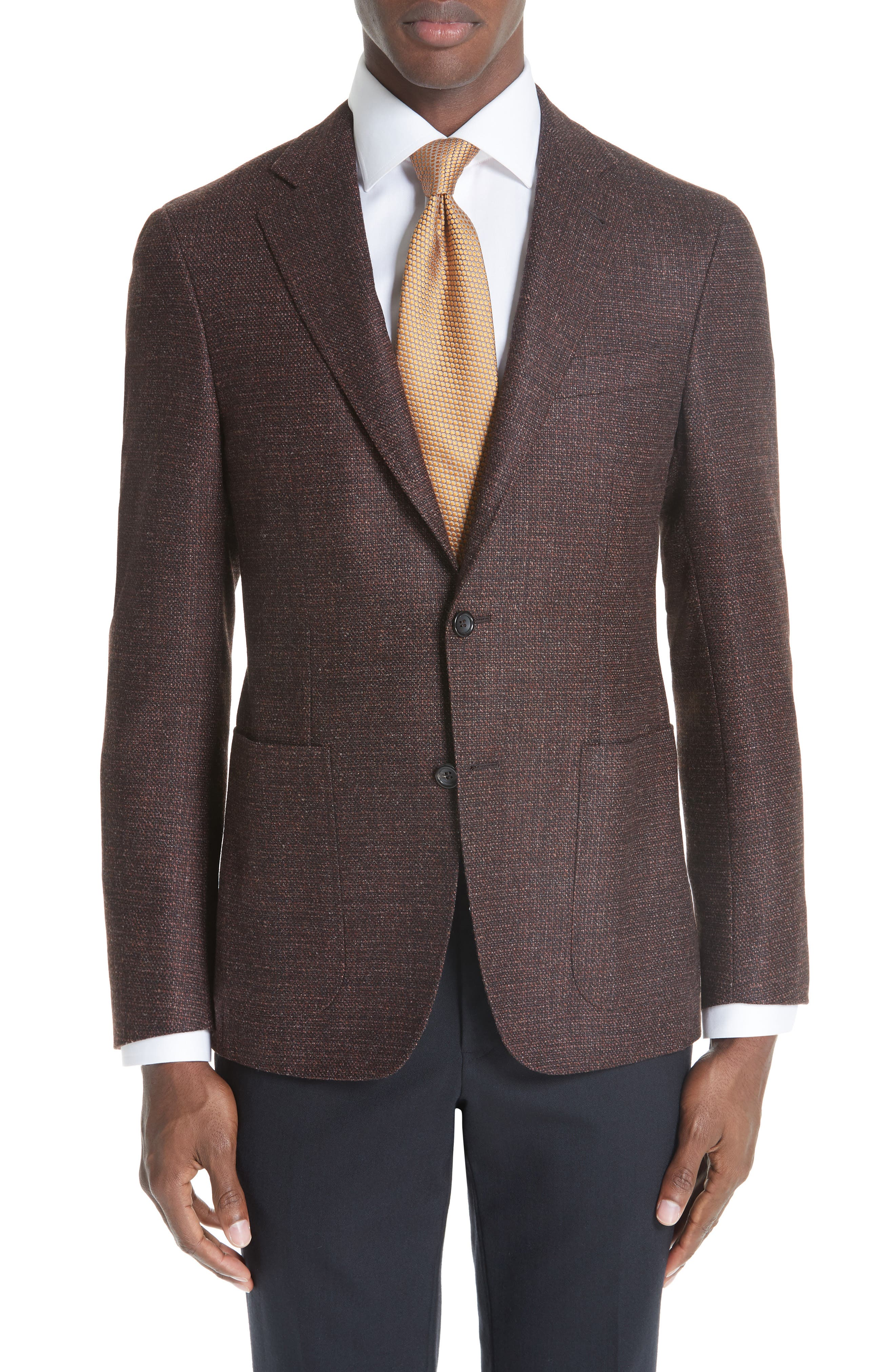 Kei Classic Fit Wool Sport Coat,                             Main thumbnail 1, color,                             DARK RED