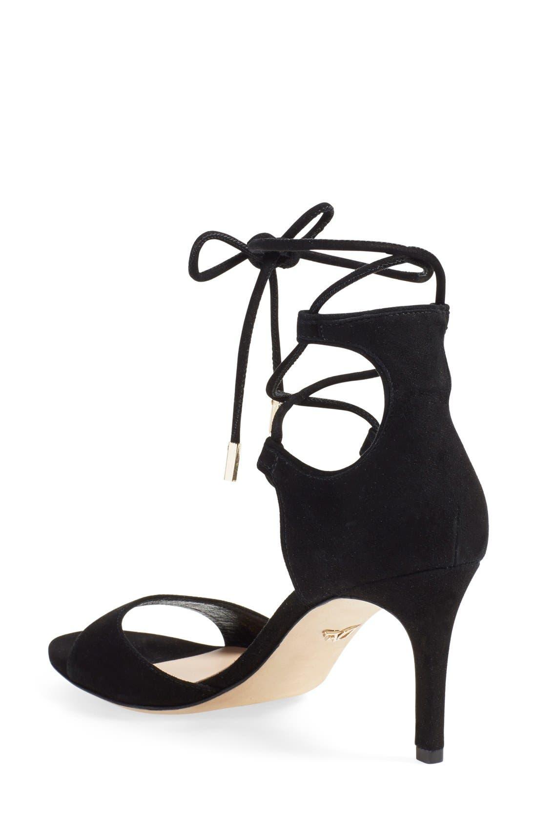 'Rimini' Ankle Wrap Sandal,                             Alternate thumbnail 2, color,                             001