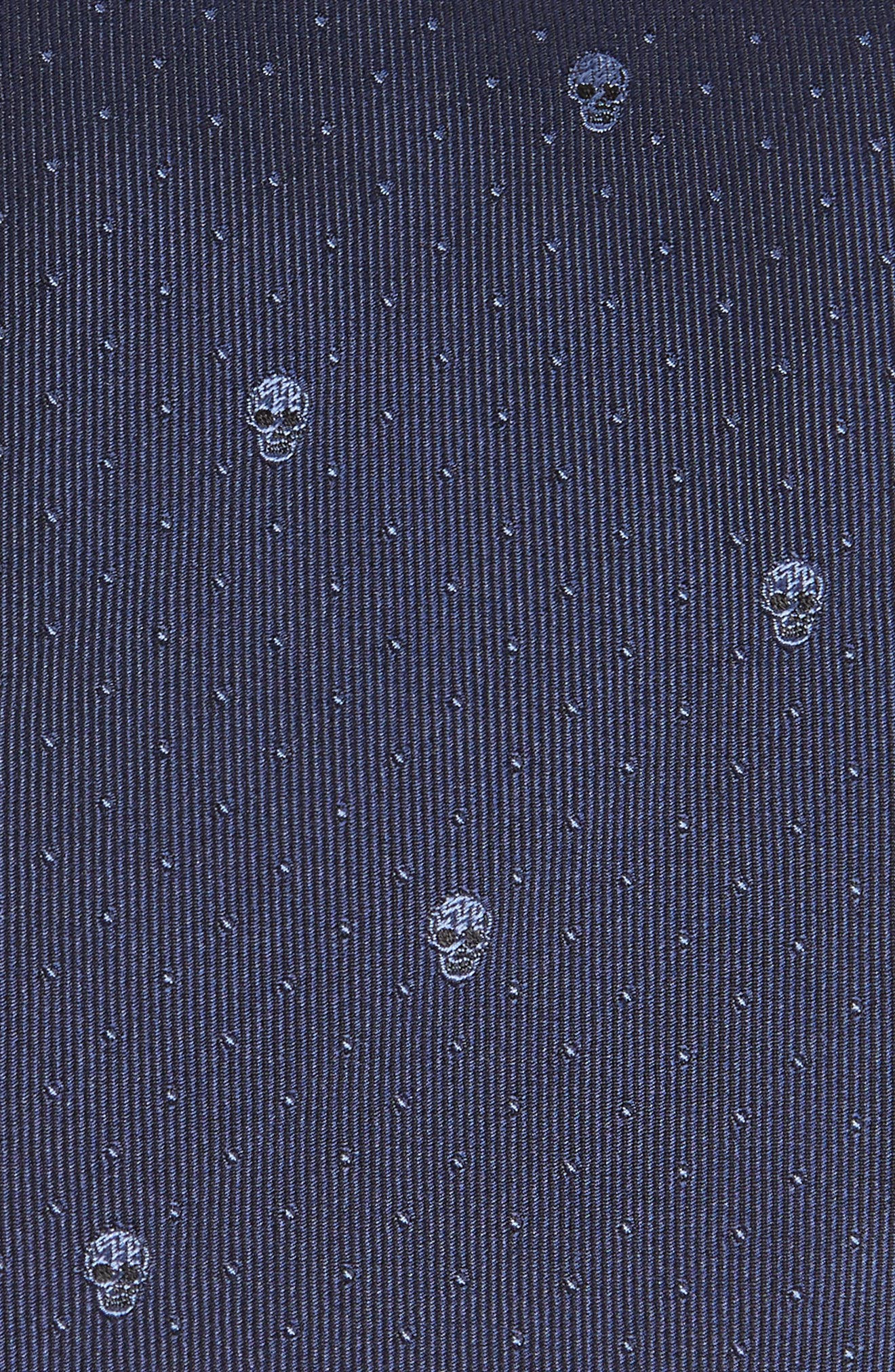 Skull Dot Silk Tie,                             Alternate thumbnail 4, color,