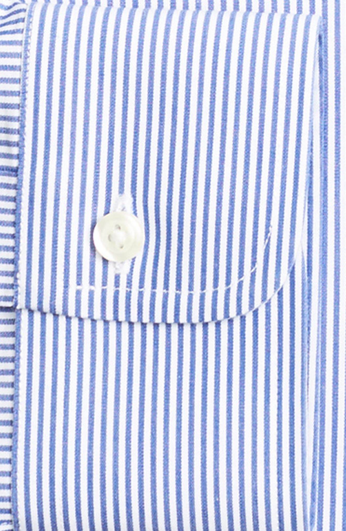 Regular Fit Stripe Dress Shirt,                             Alternate thumbnail 2, color,                             BLUE
