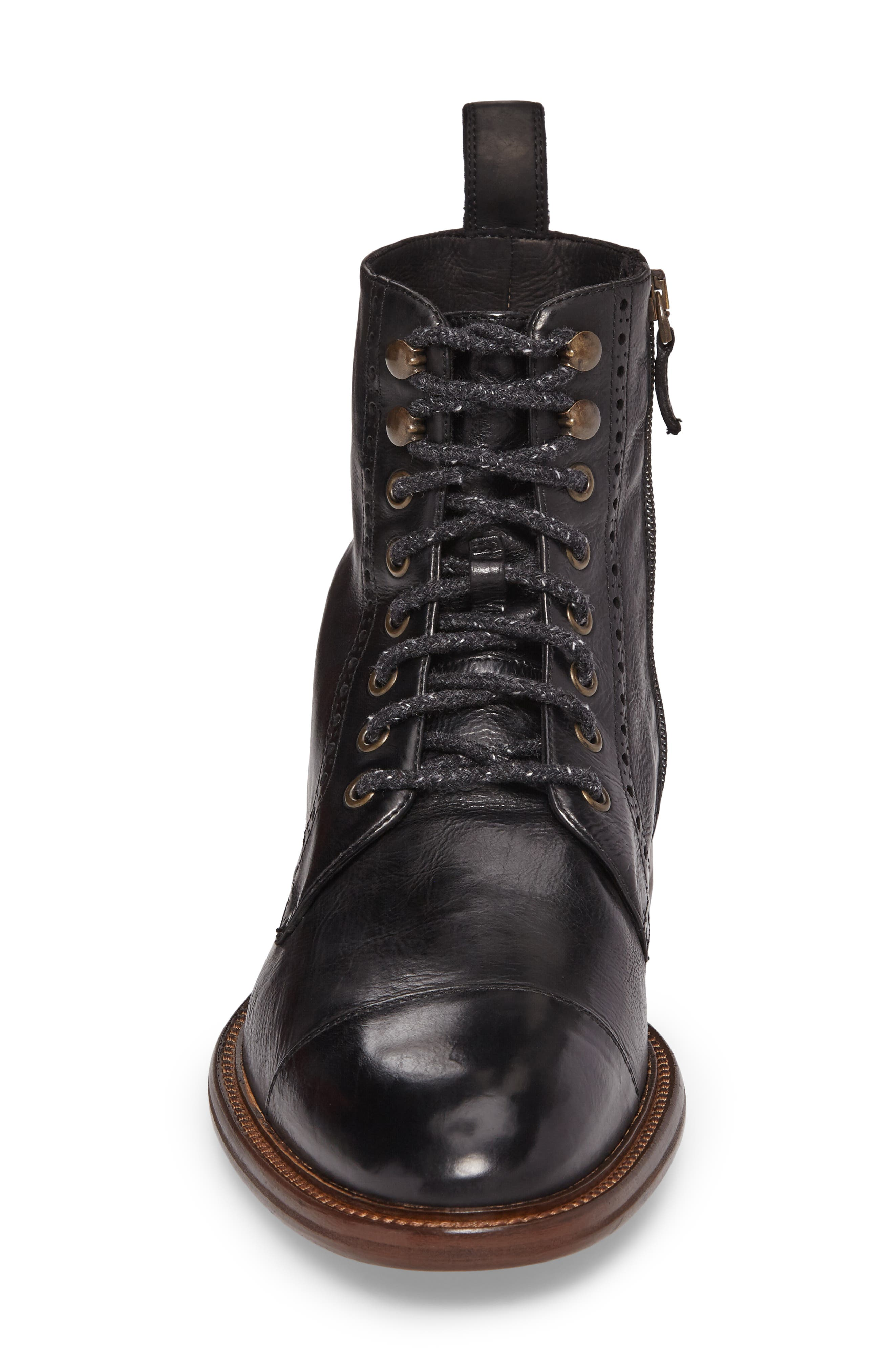 Bryson Cap Toe Boot,                             Alternate thumbnail 4, color,                             001