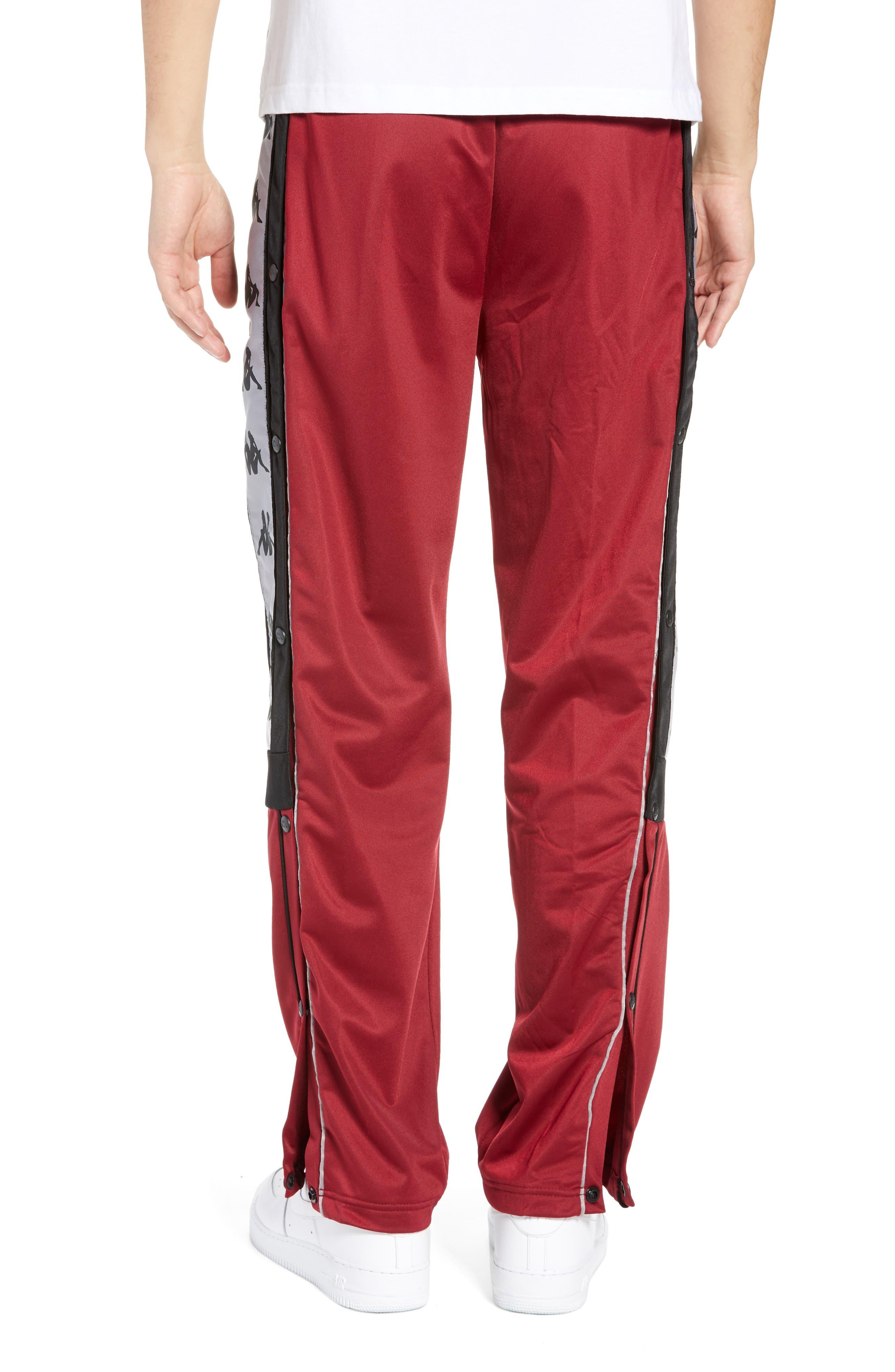 Active 222 Banda Snap-Away Warm-Up Pants,                             Alternate thumbnail 2, color,                             RED BORDEAUX BLACK