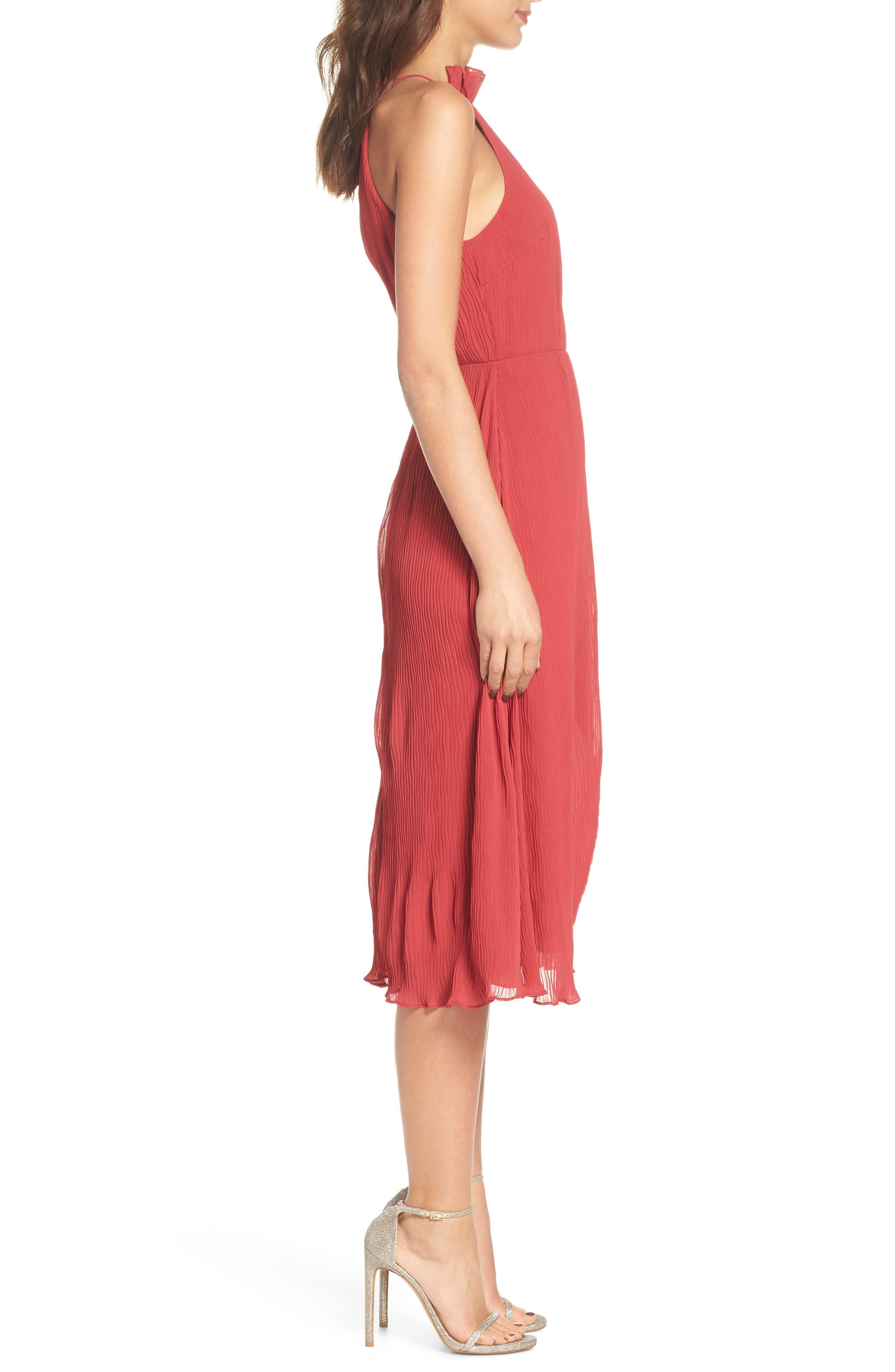 Skylines Halter Midi Dress,                             Alternate thumbnail 5, color,