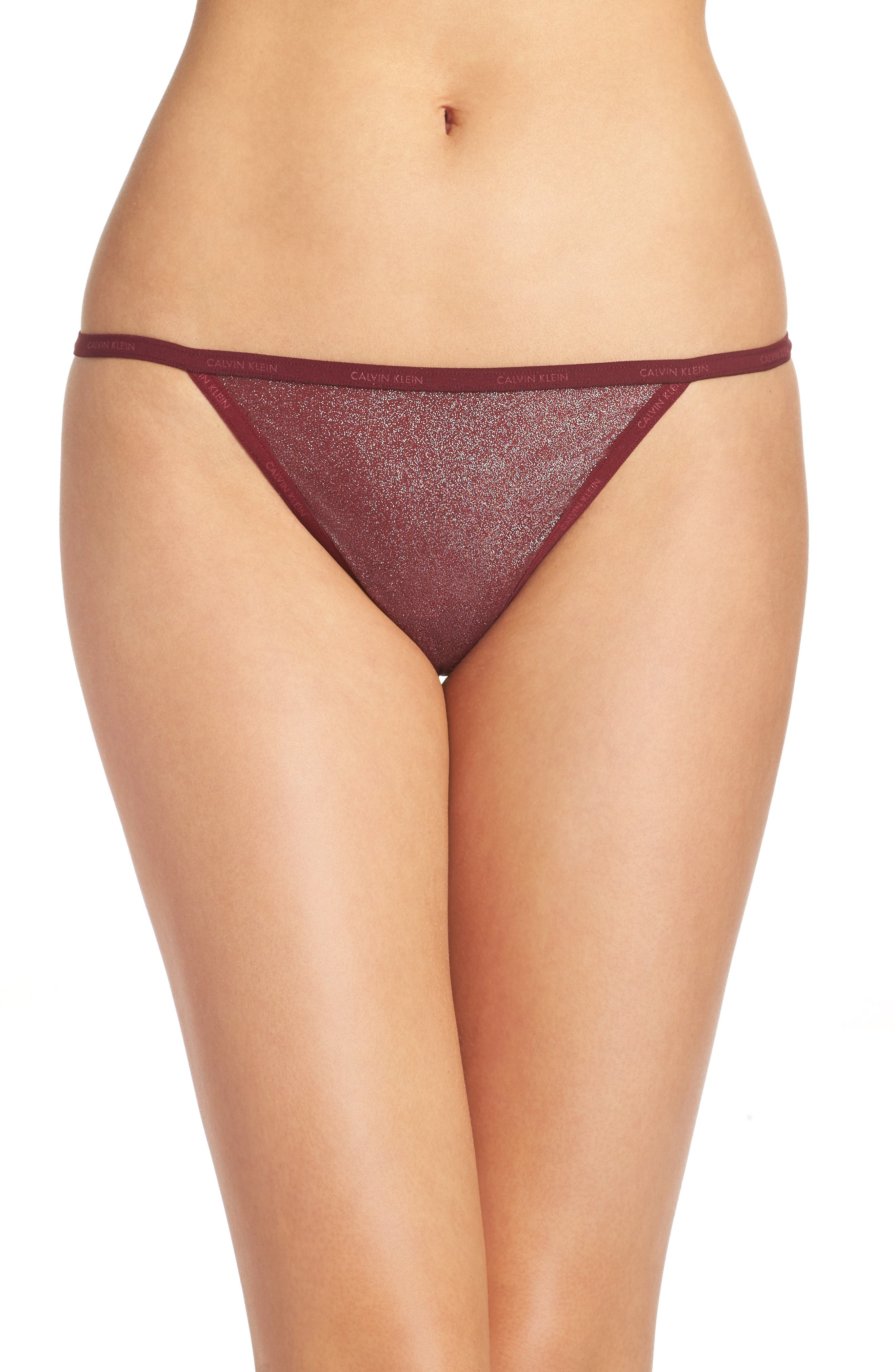 ID Sheer Marquisette Thong,                             Main thumbnail 1, color,